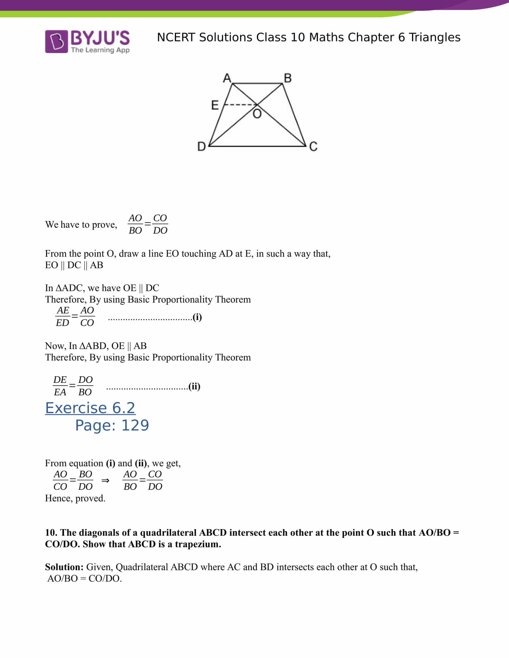 NCERT Solutions for class 10 Maths Chapter 6 Triangles Part 10