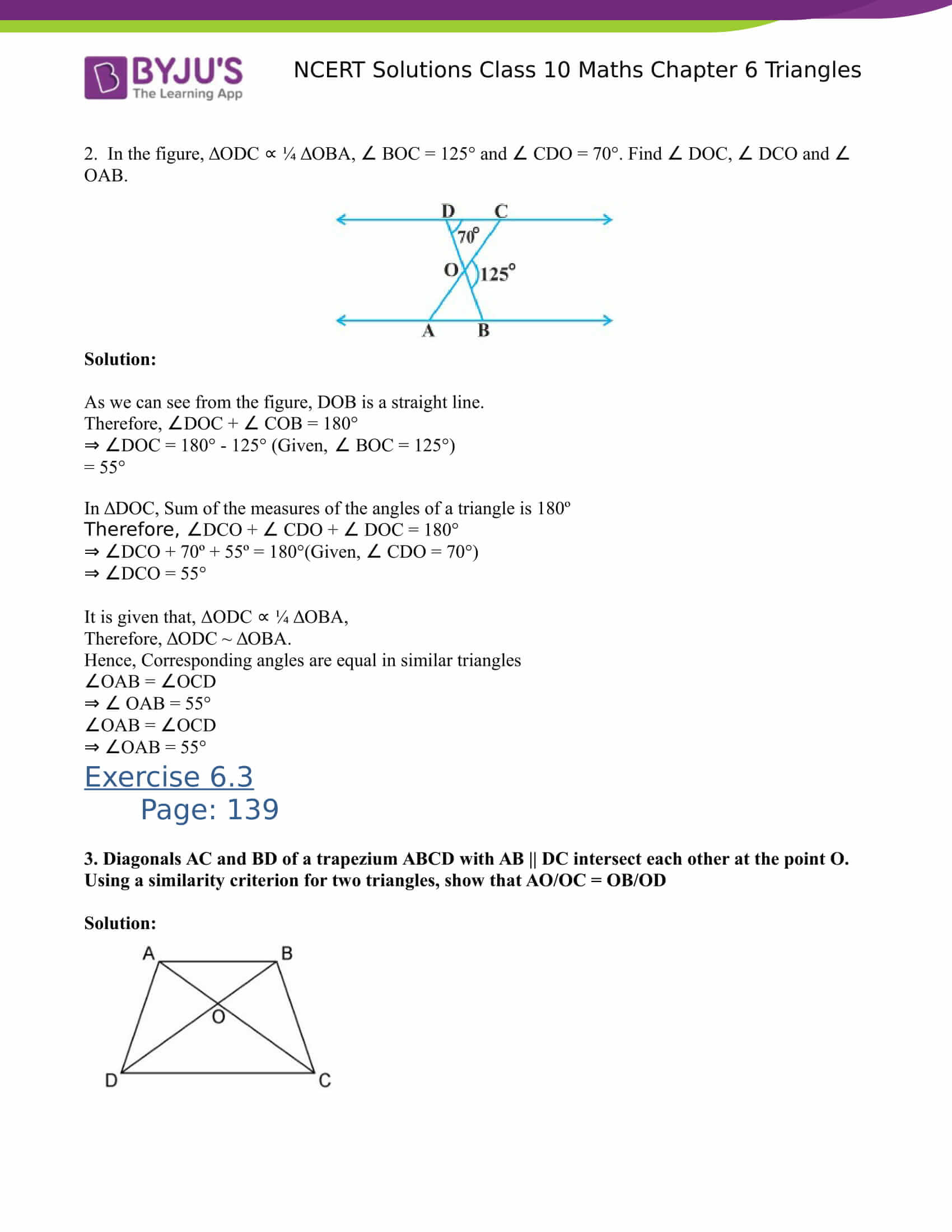 NCERT Solutions for class 10 Maths Chapter 6 Triangles Part 15