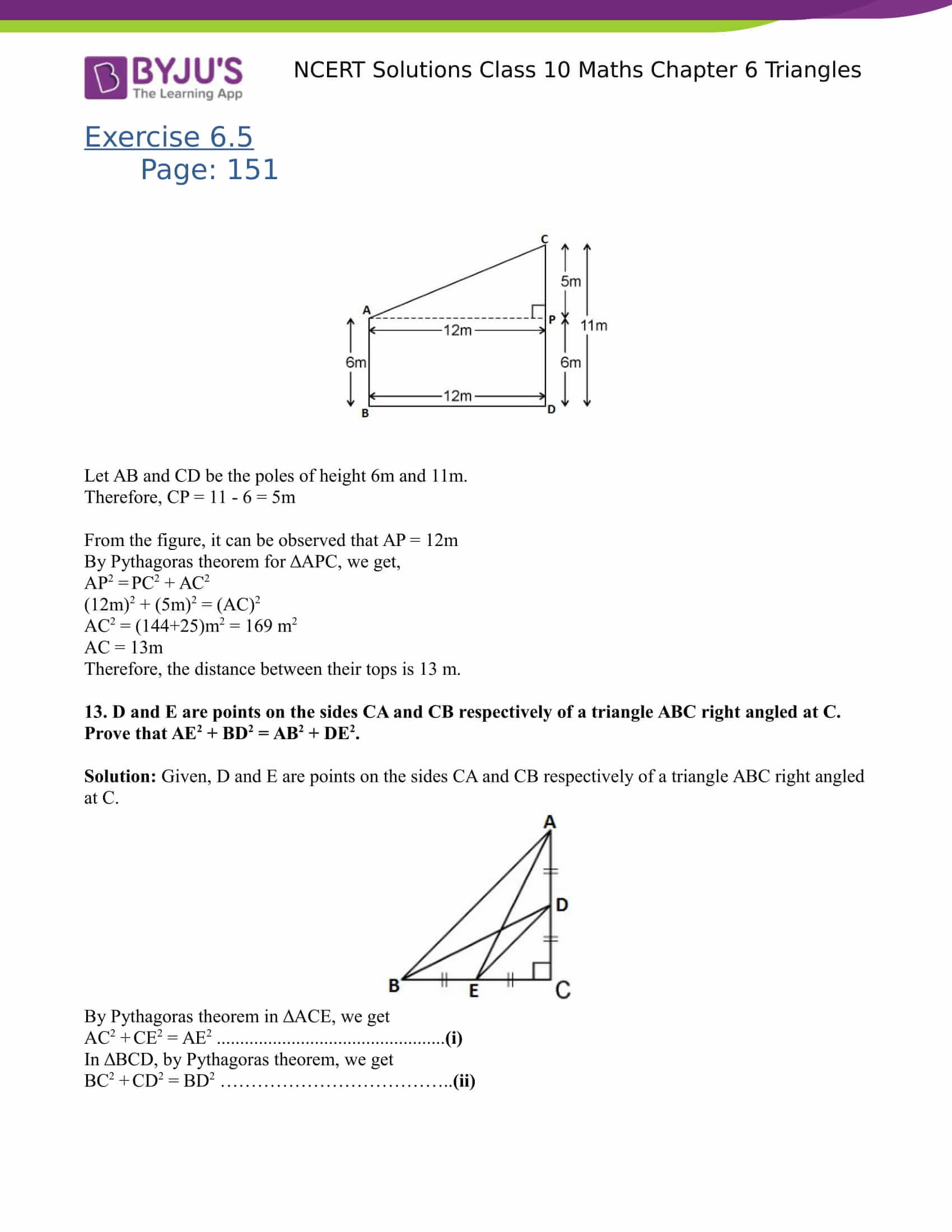 NCERT Solutions for class 10 Maths Chapter 6 Triangles Part 42
