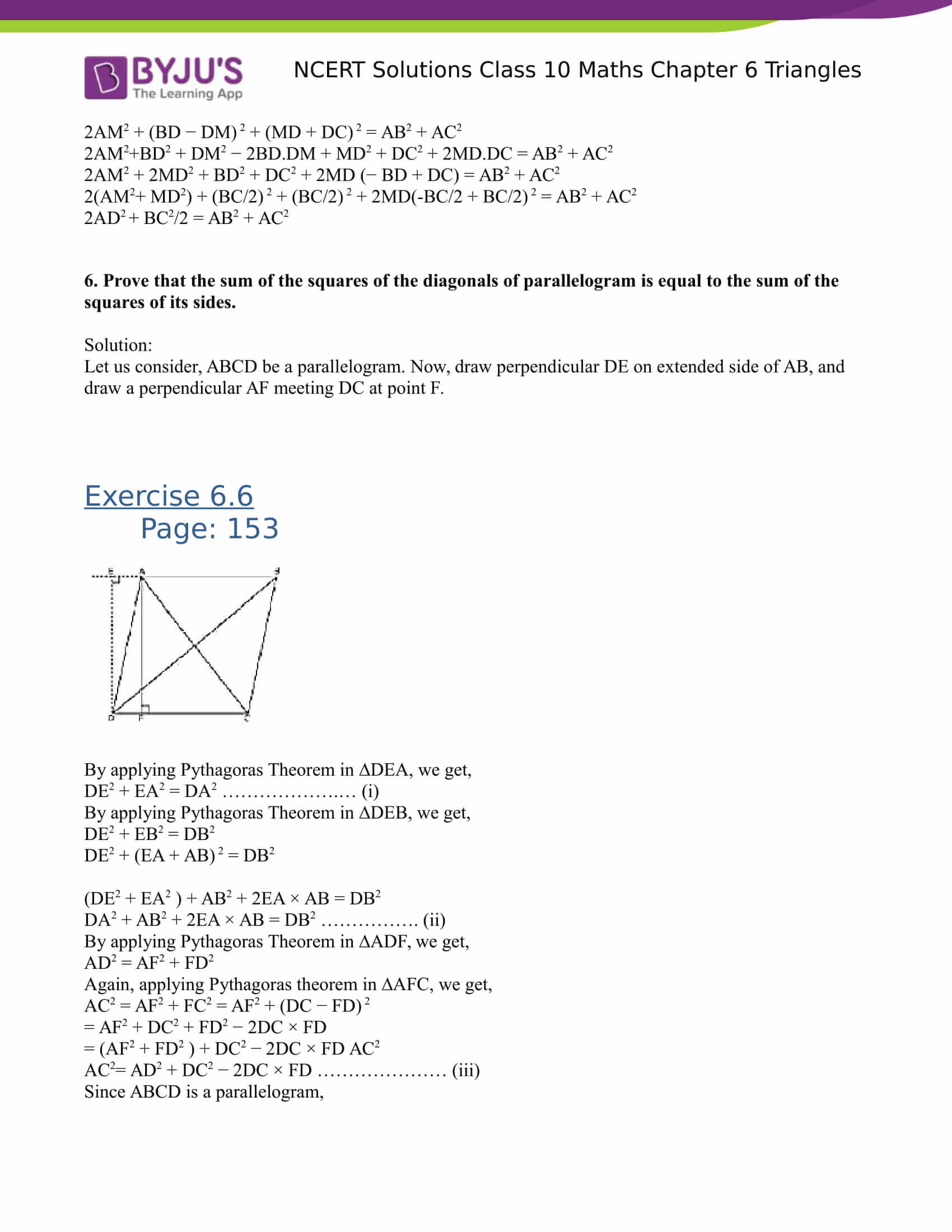 NCERT Solutions for class 10 Maths Chapter 6 Triangles Part 51