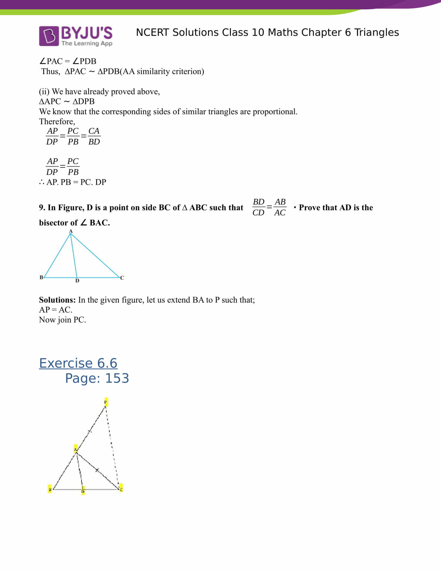 NCERT Solutions for class 10 Maths Chapter 6 Triangles Part 54