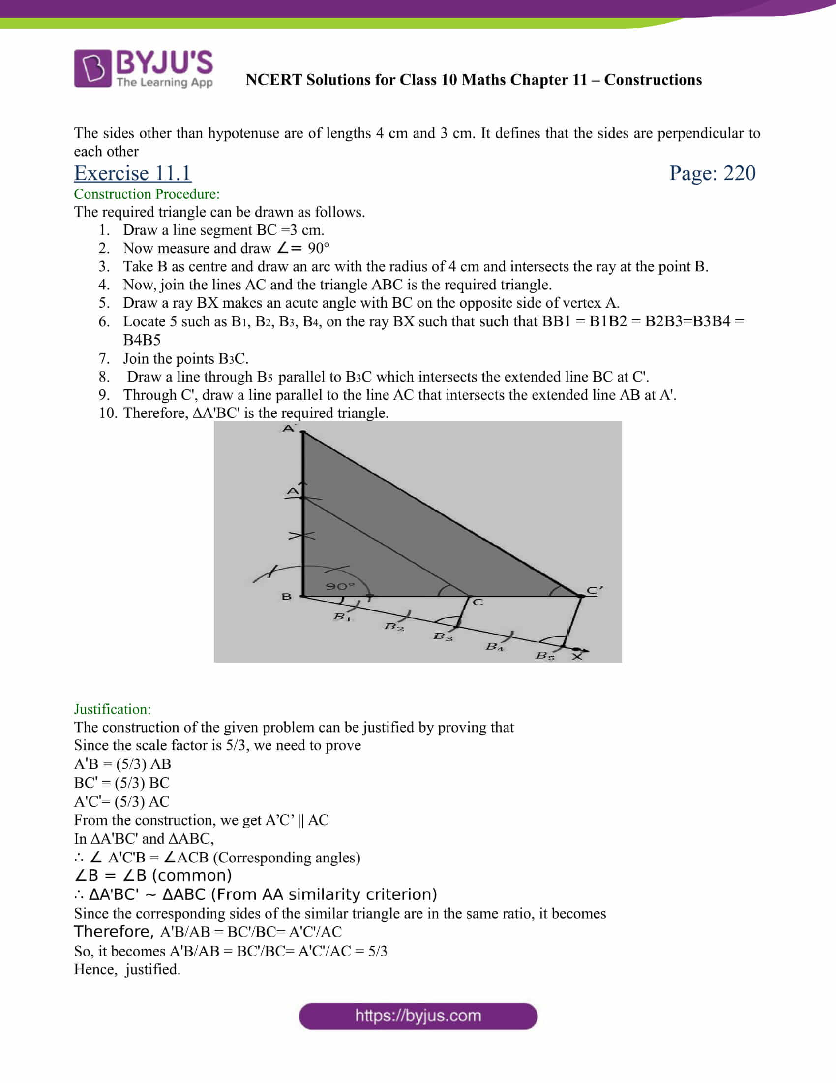 NCERT Solutions for class 10 chapter 11 Constructions Part 8