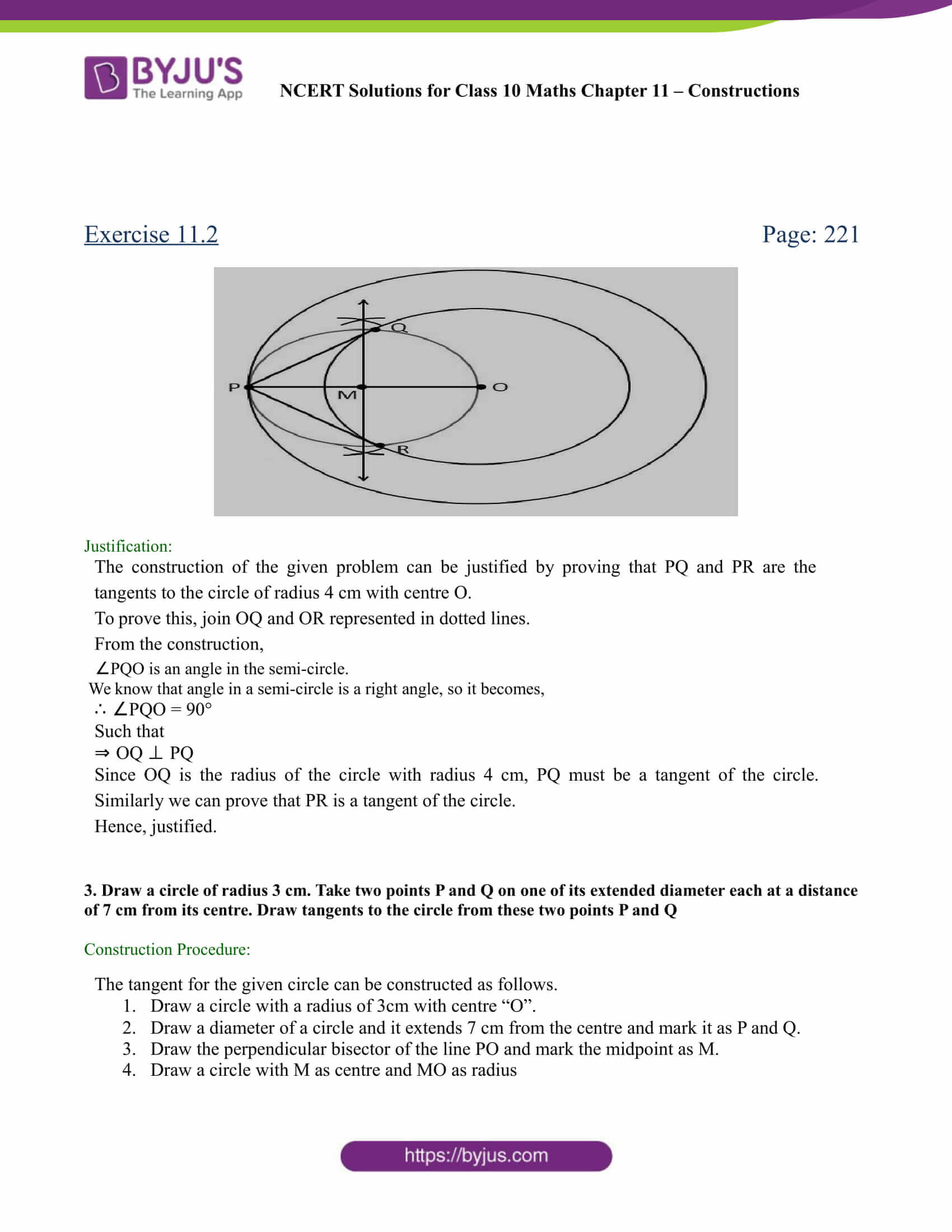 NCERT Solutions for class 10 chapter 11 Constructions Part 11