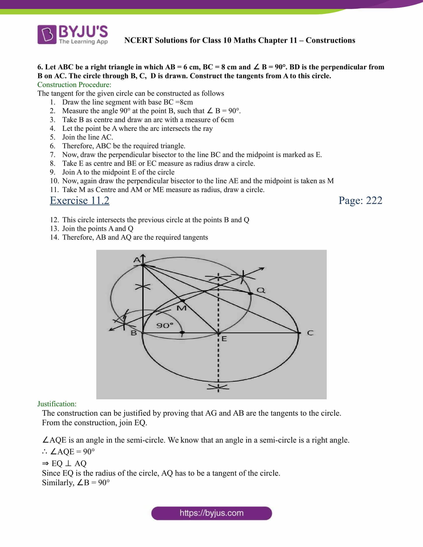 NCERT Solutions for class 10 chapter 11 Constructions Part 15