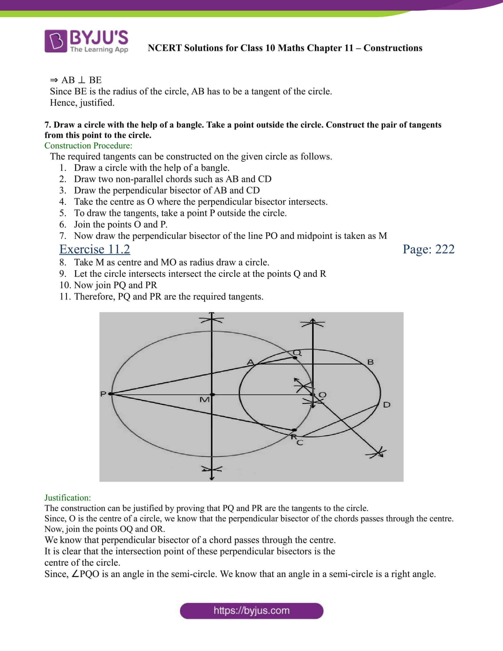 NCERT Solutions for class 10 chapter 11 Constructions Part 16