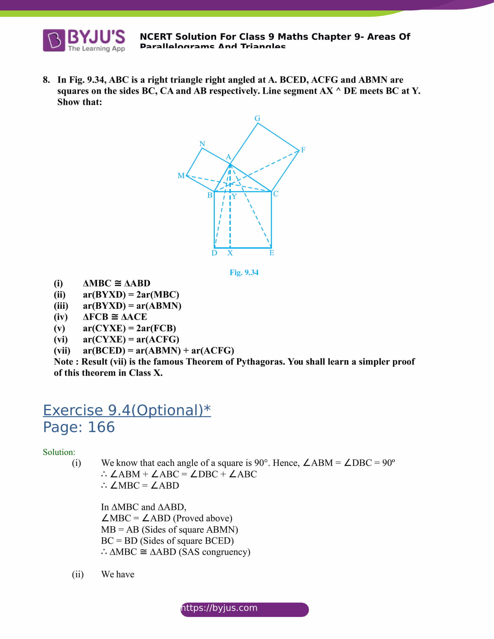 NCERT Solutions for class 9 Maths Chapter 9 Areas of parallelograms and triangles Part 30