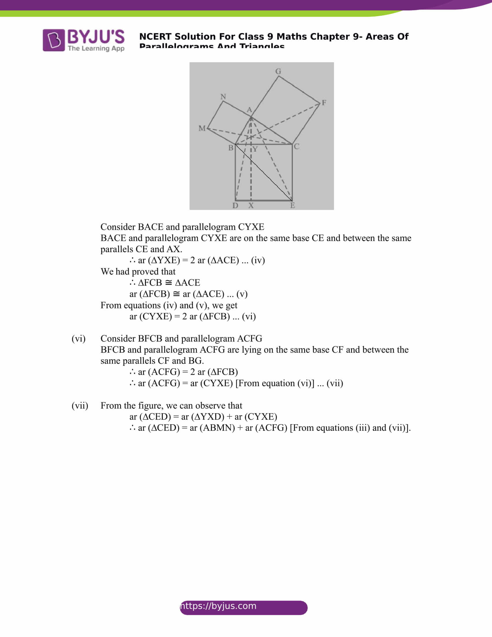 NCERT Solutions for class 9 Maths Chapter 9 Areas of parallelograms and triangles Part 32