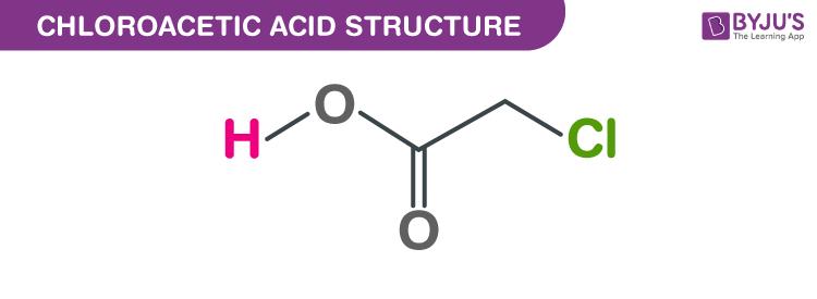 Chloroacetic acid structure