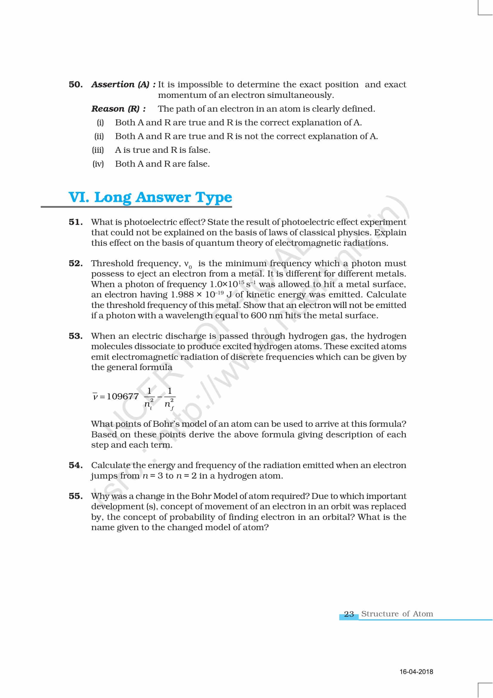 NCERT Exemplar Class 11 Chemistry