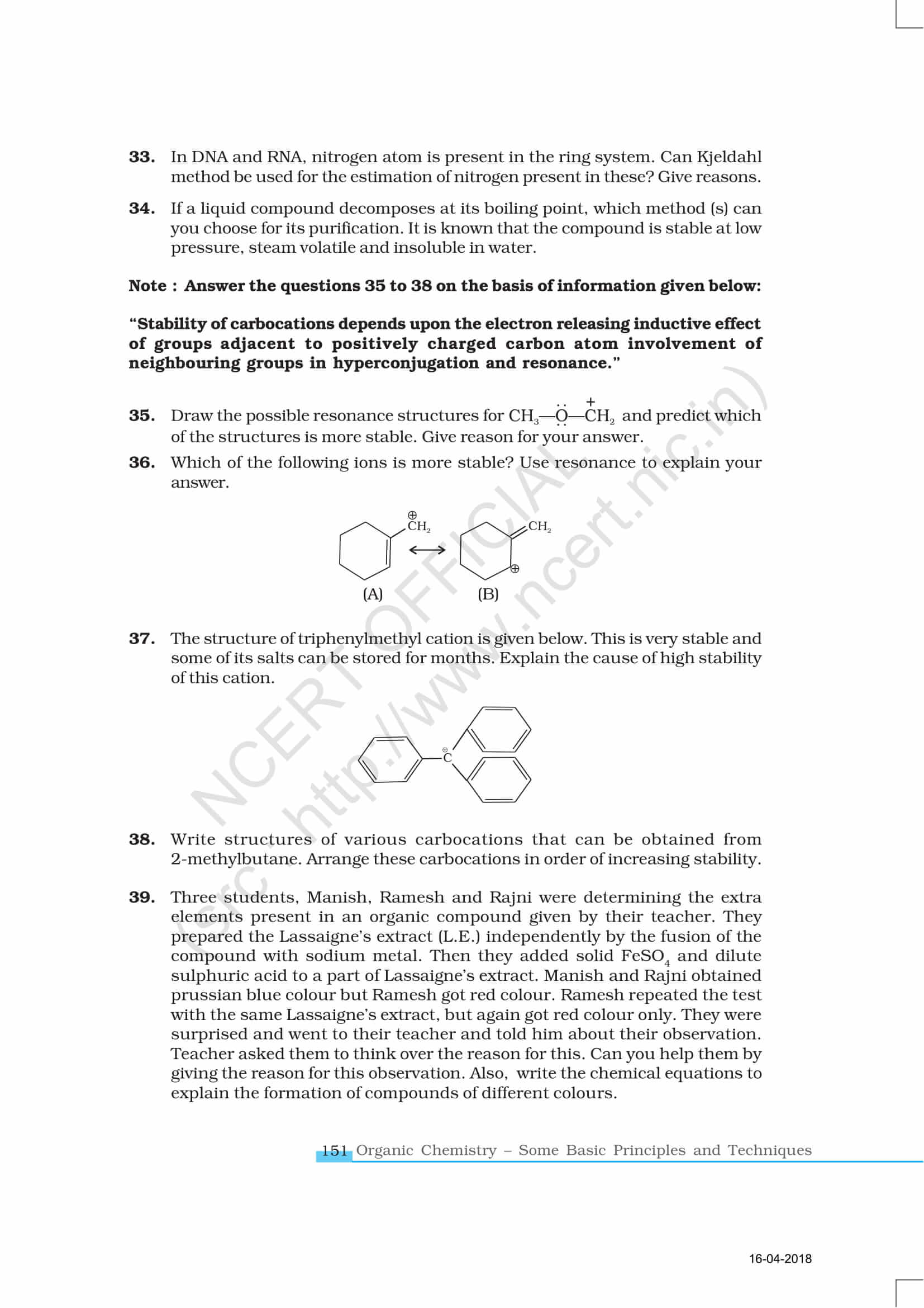 NCERT Exemplar Class 11 Chemistry Solutions Chapter 12