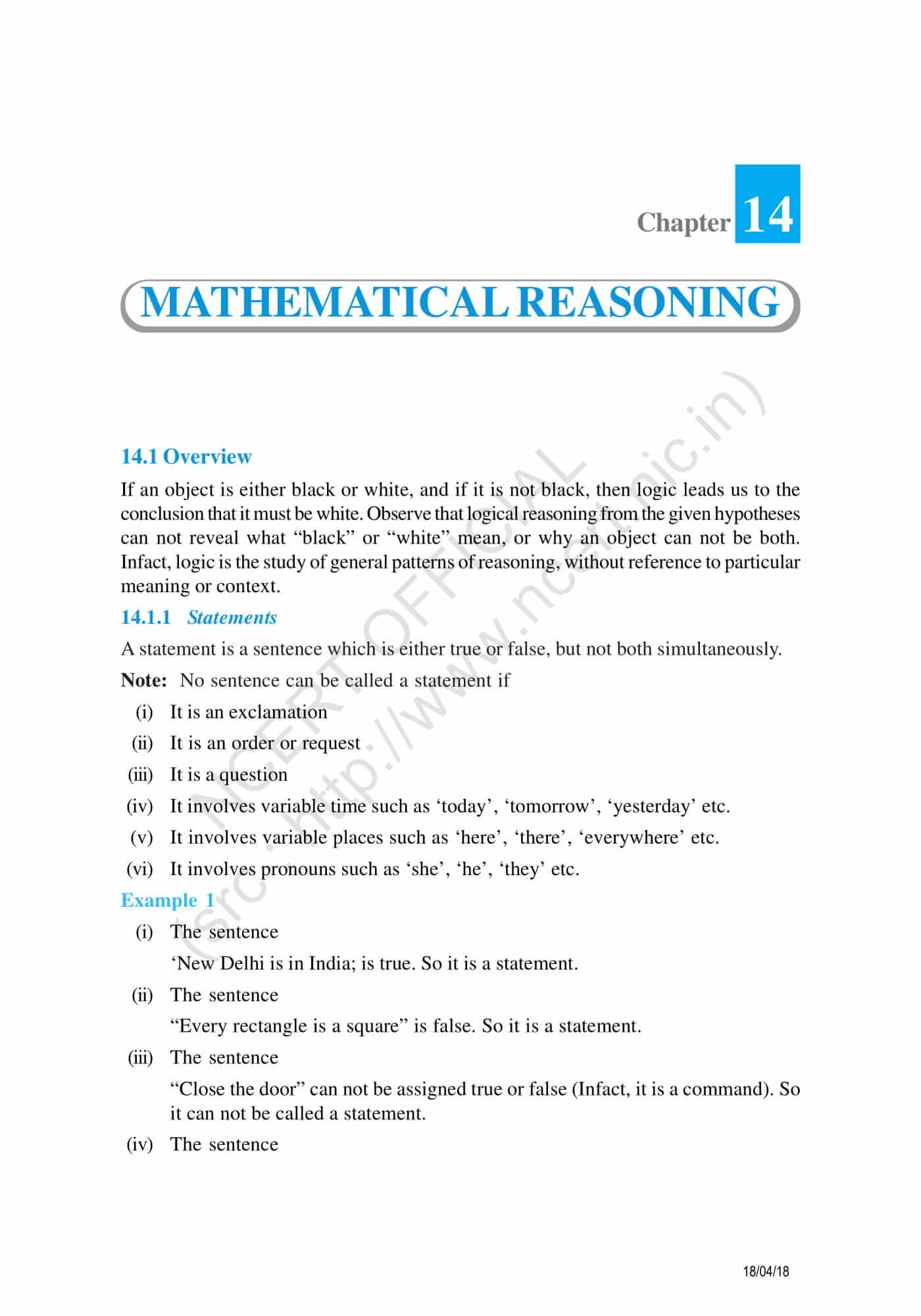 NCERT Exemplar Class 11 maths