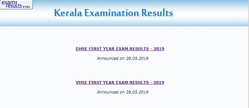 DHSE First Year Result 2019 link