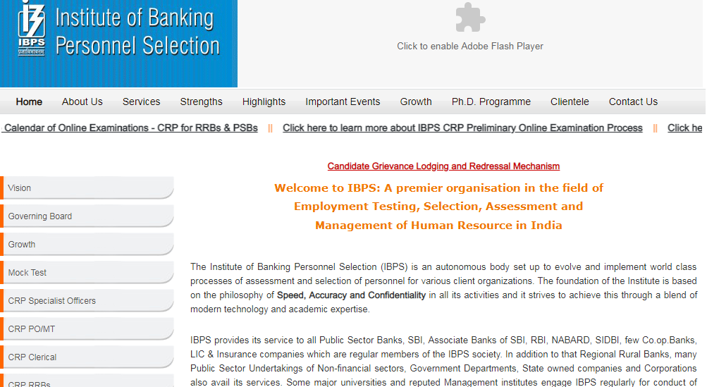 IBPS Home Page