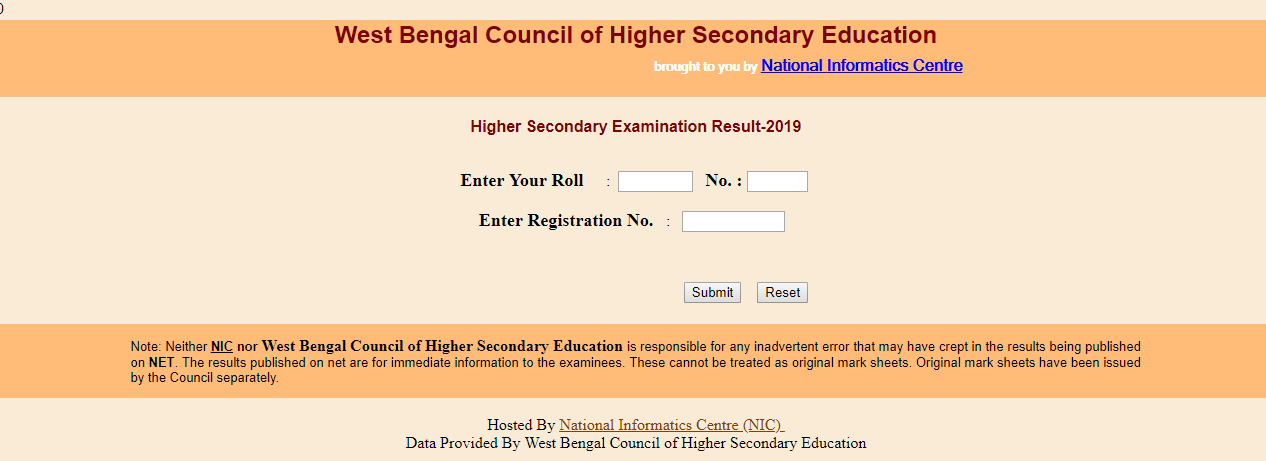 WB HS Result 2019