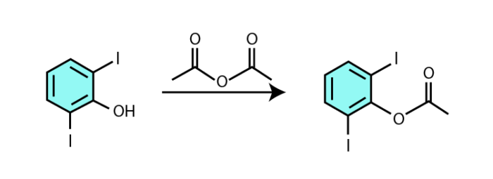 Acid anhydride and alcohol