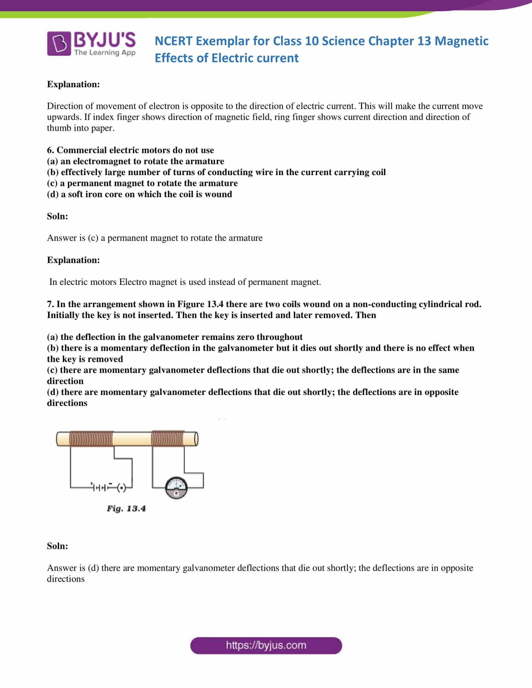 NCERT Exemplar solution class 10 Science Chapter 13 part 04