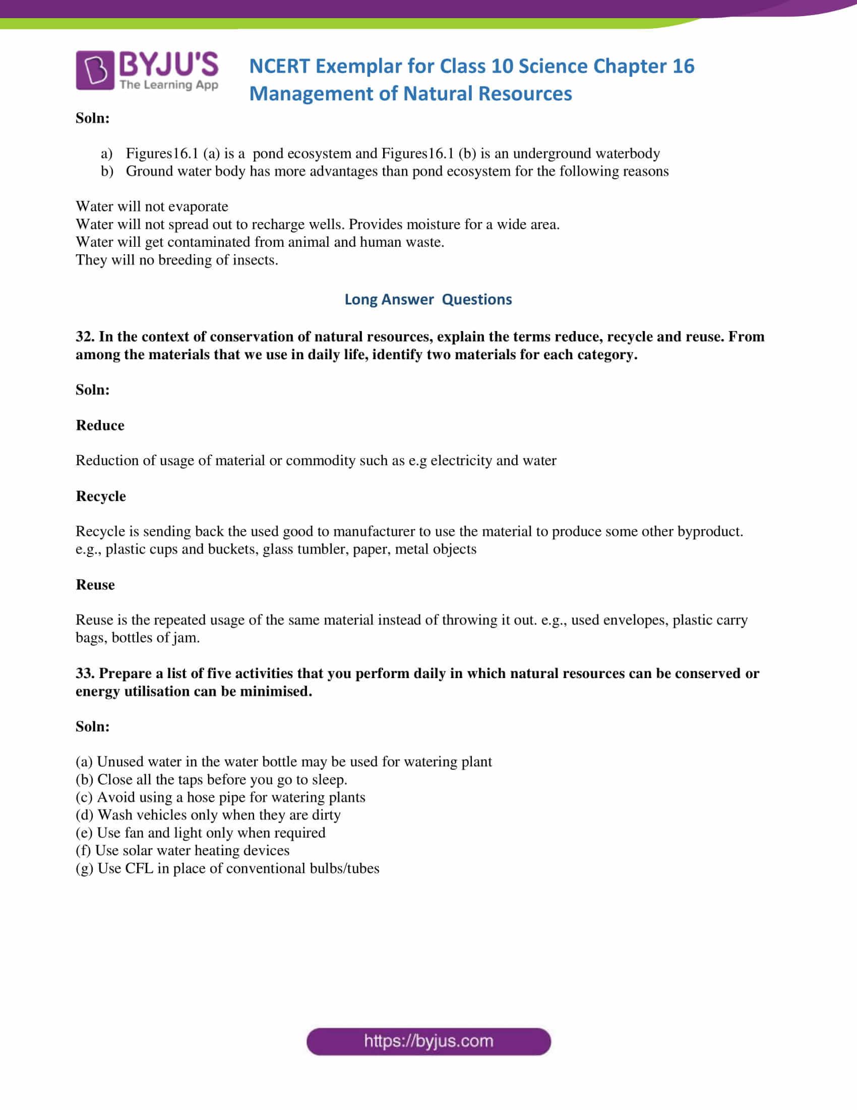 NCERT Exemplar solution class 10 Science Chapter 16 part 11