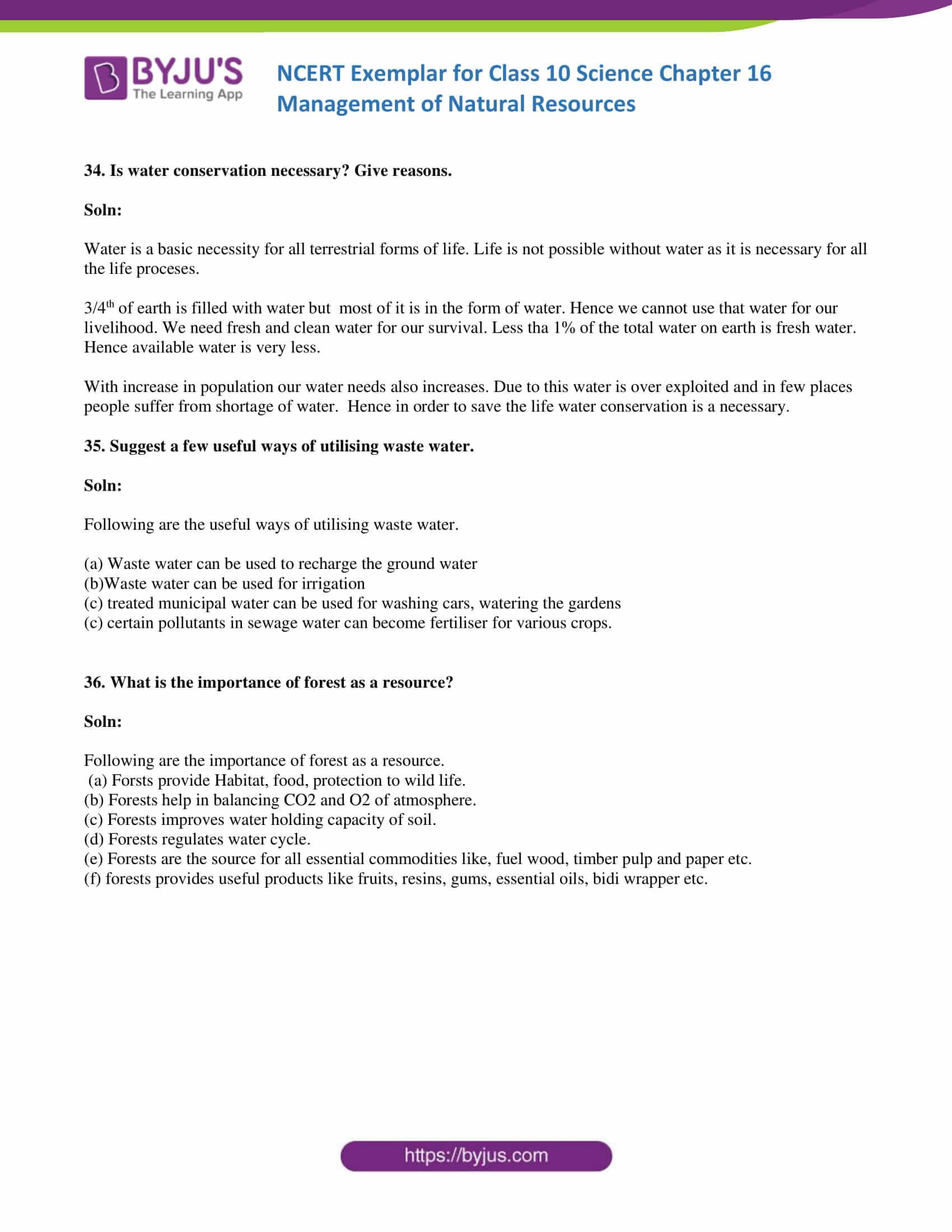 NCERT Exemplar solution class 10 Science Chapter 16 part 12