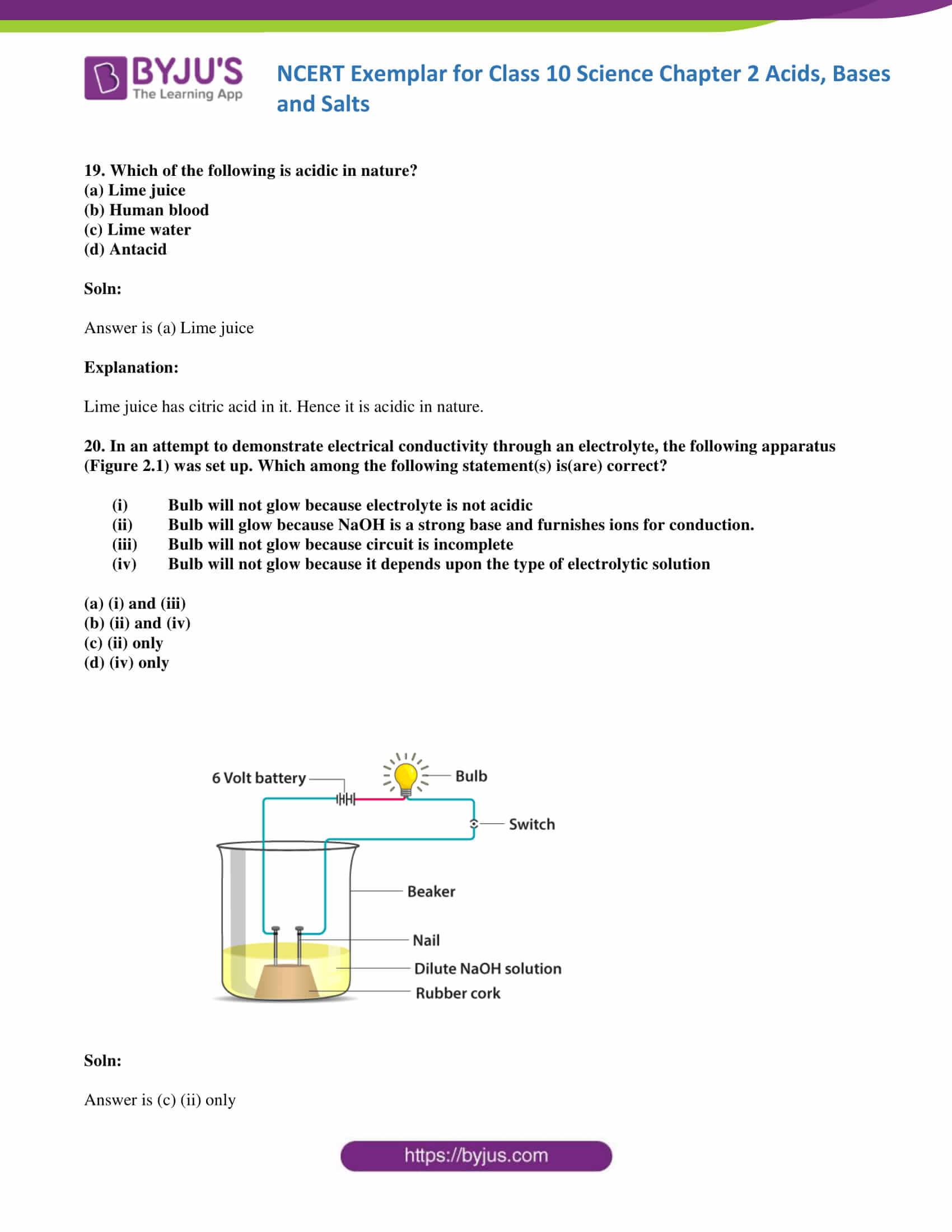 NCERT Exemplar solution class 10 Science Chapter 2 part 07