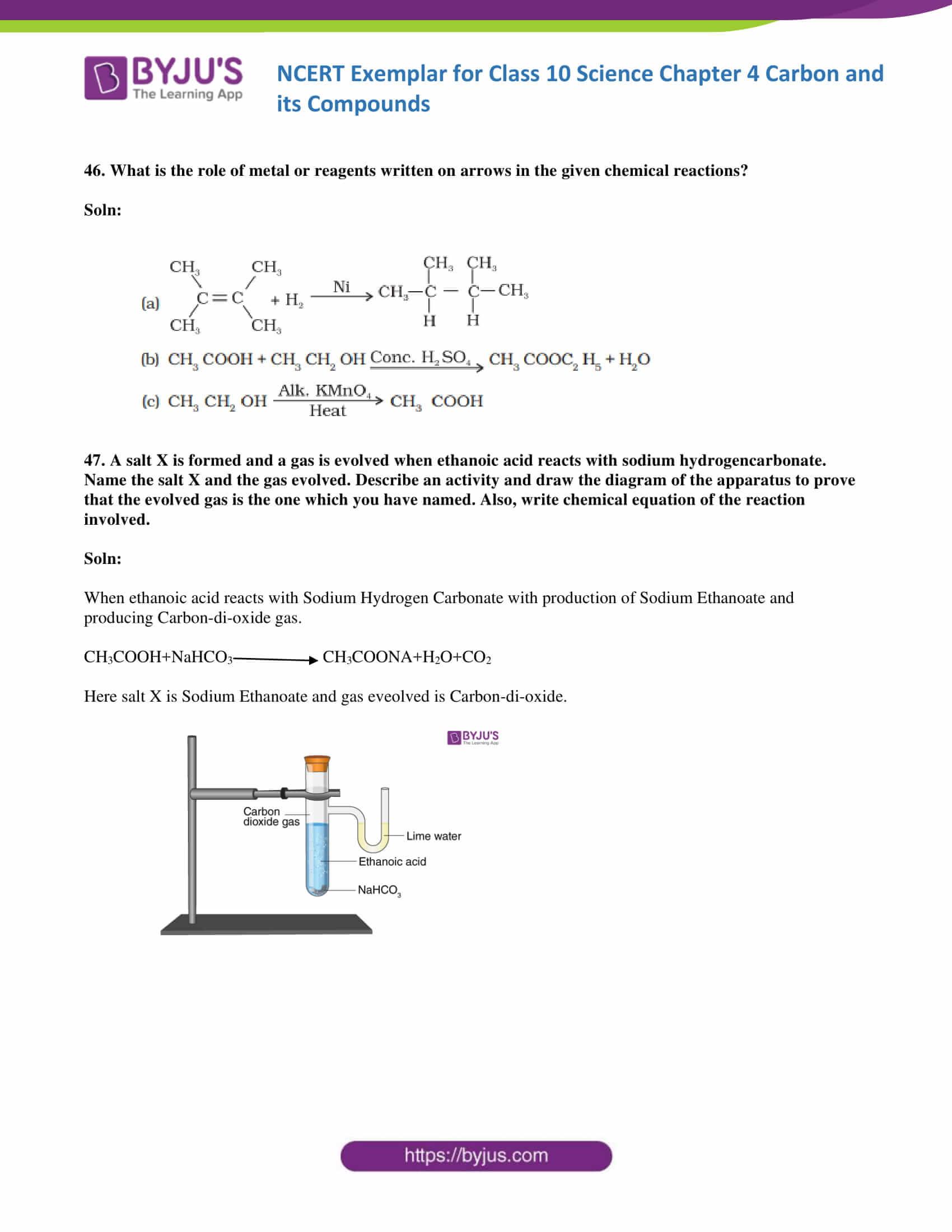 NCERT Exemplar Class 10 Science Solutions Chapter 4 - Free