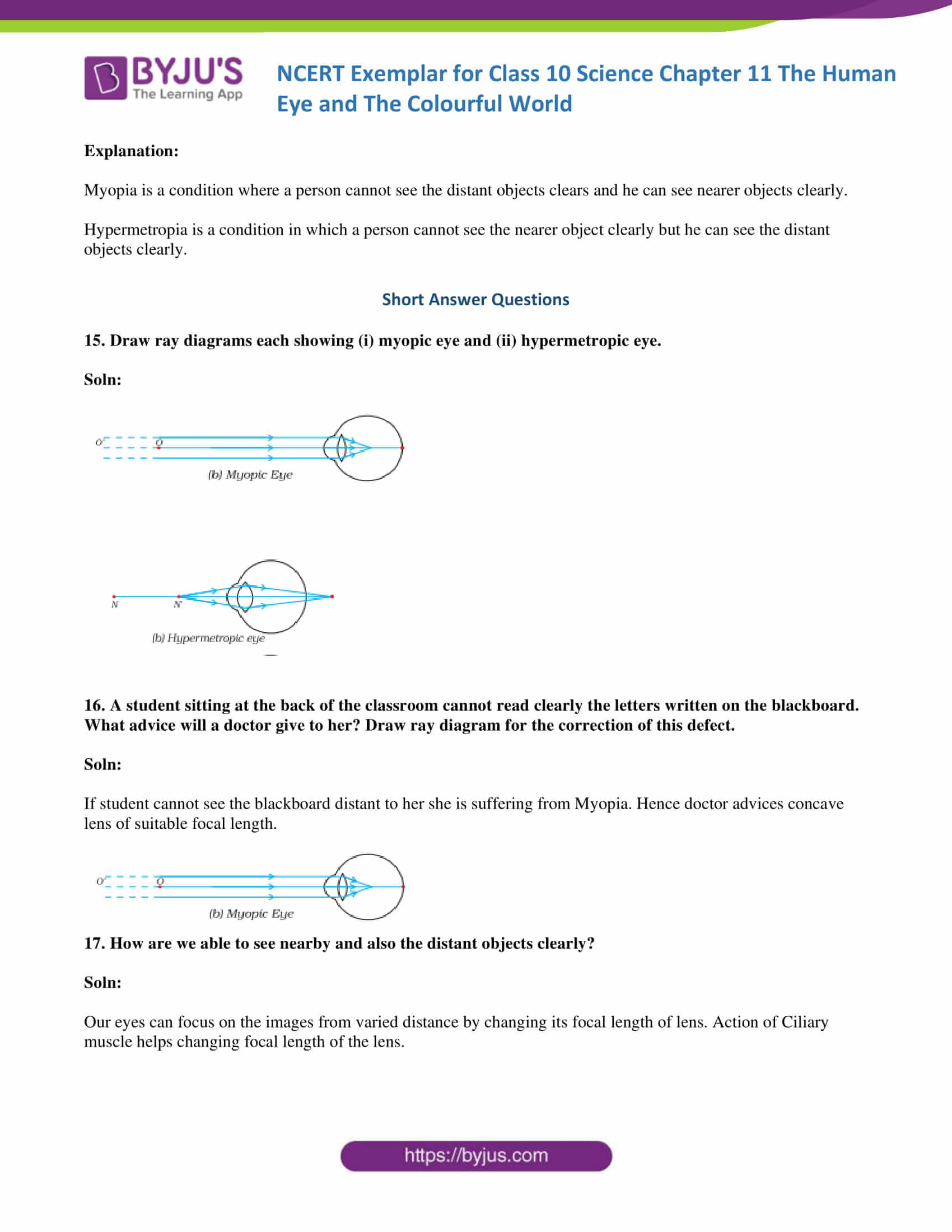 NCERT Exemplar solution class 10 science Chapter 11 part 06