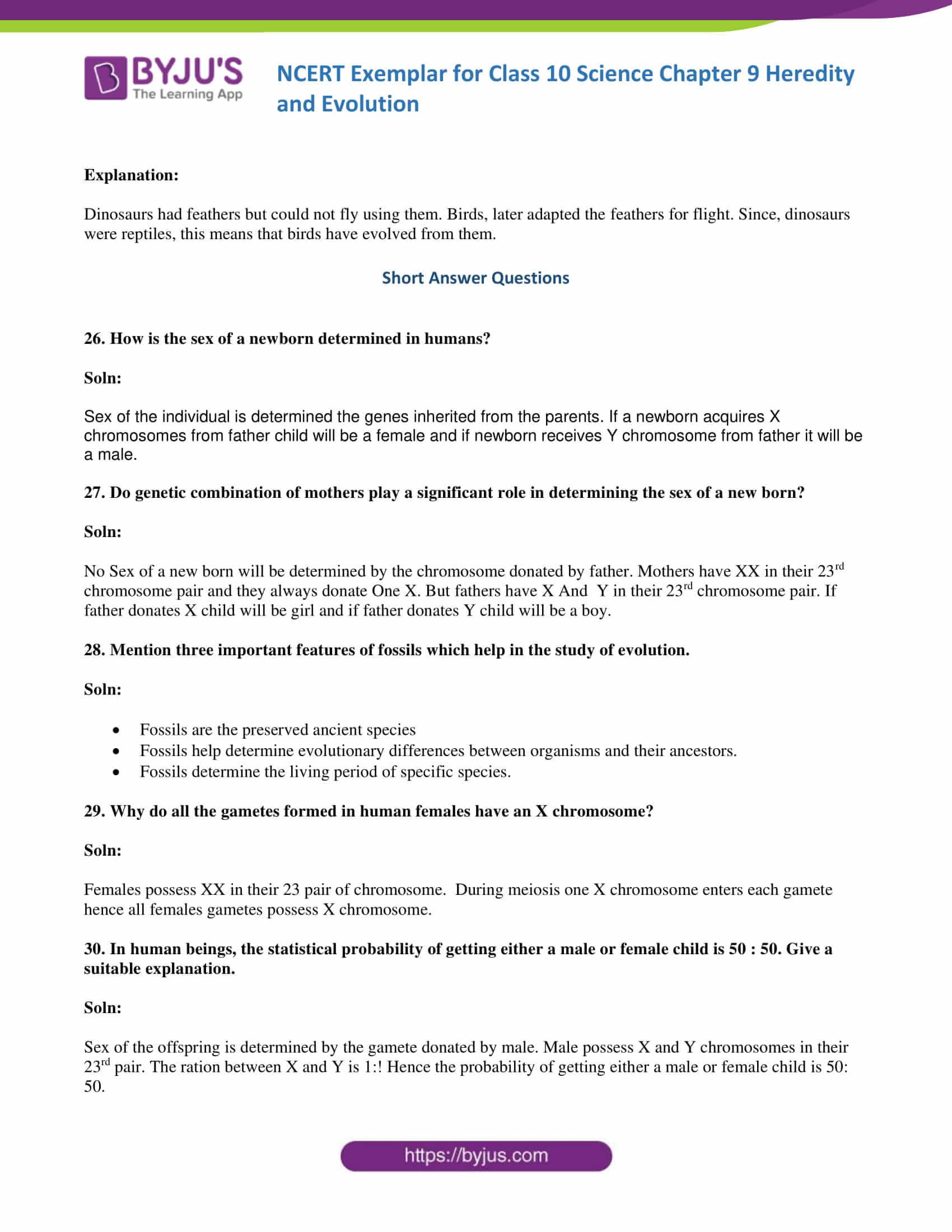 NCERT Exemplar solution class 10 science Chapter 9 part 10