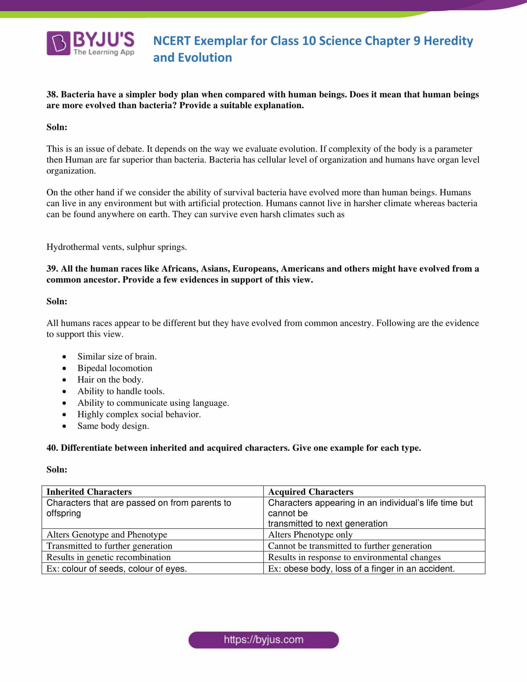 NCERT Exemplar solution class 10 science Chapter 9 part 13