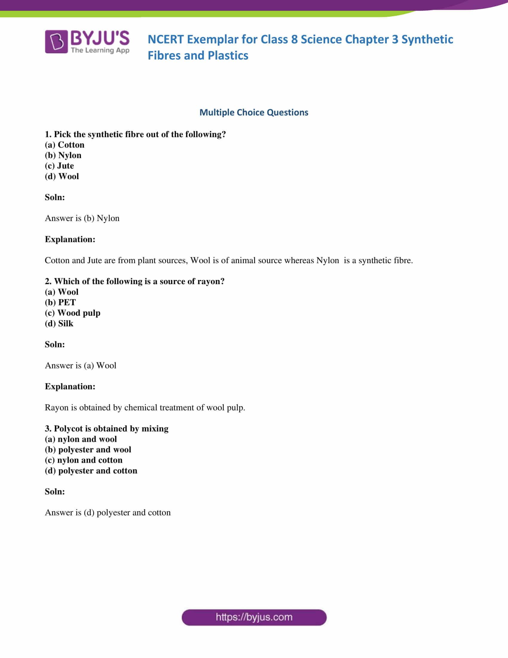 NCERT Exemplar solution class 8 Chapter 3 part 01