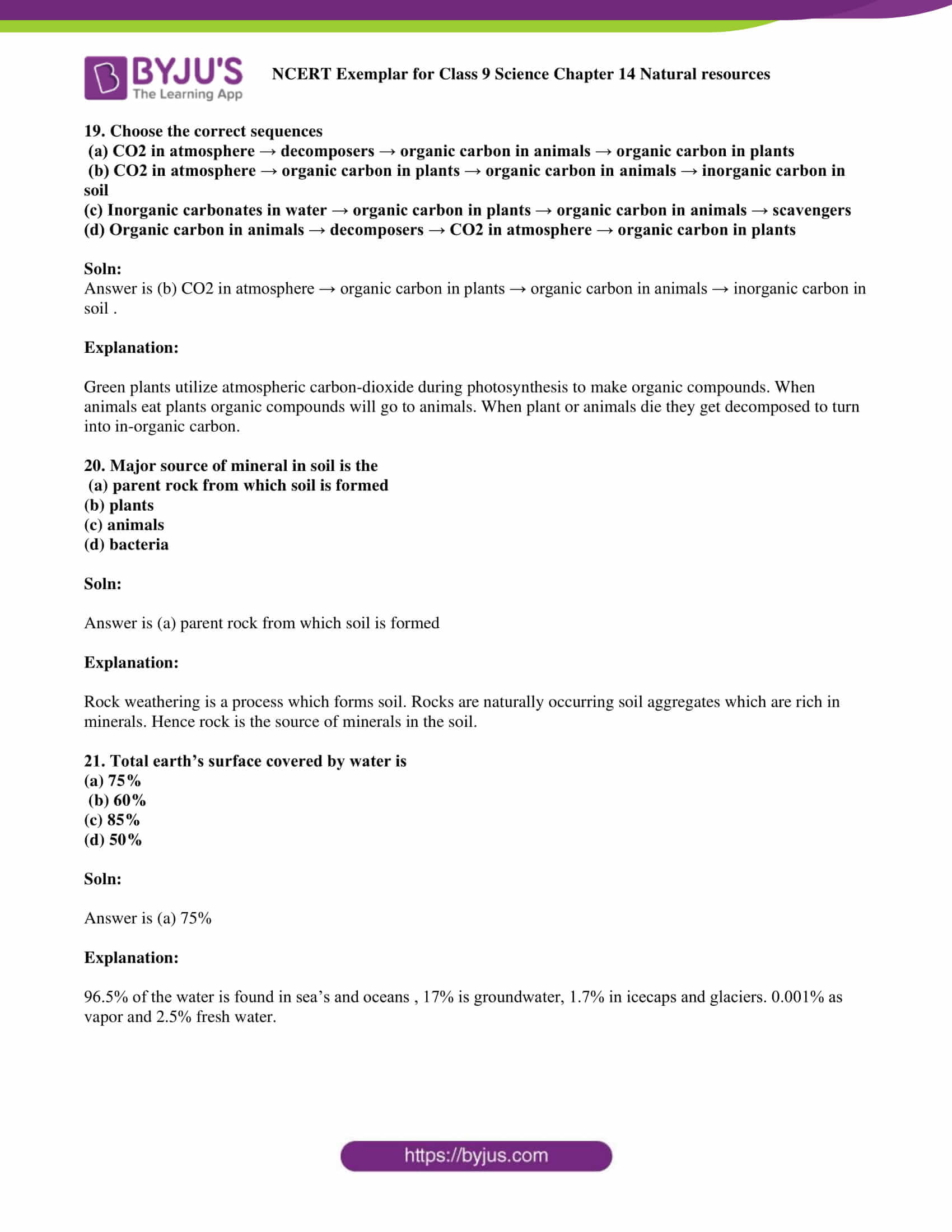 NCERT Exemplar solution class 9 Science Chapter 14 part 06