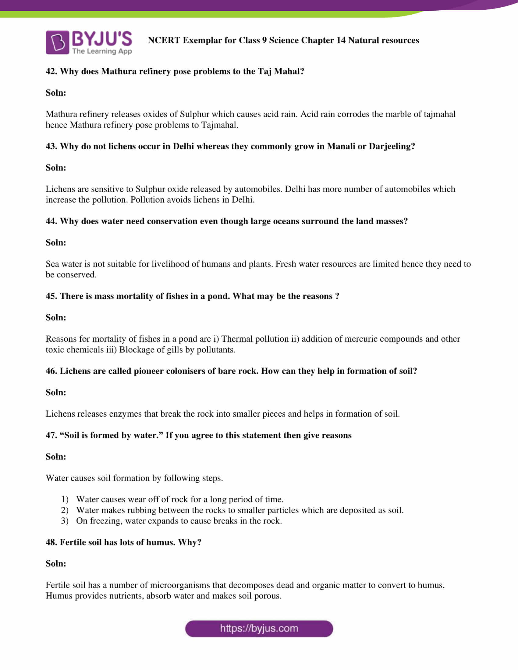 NCERT Exemplar solution class 9 Science Chapter 14 part 12