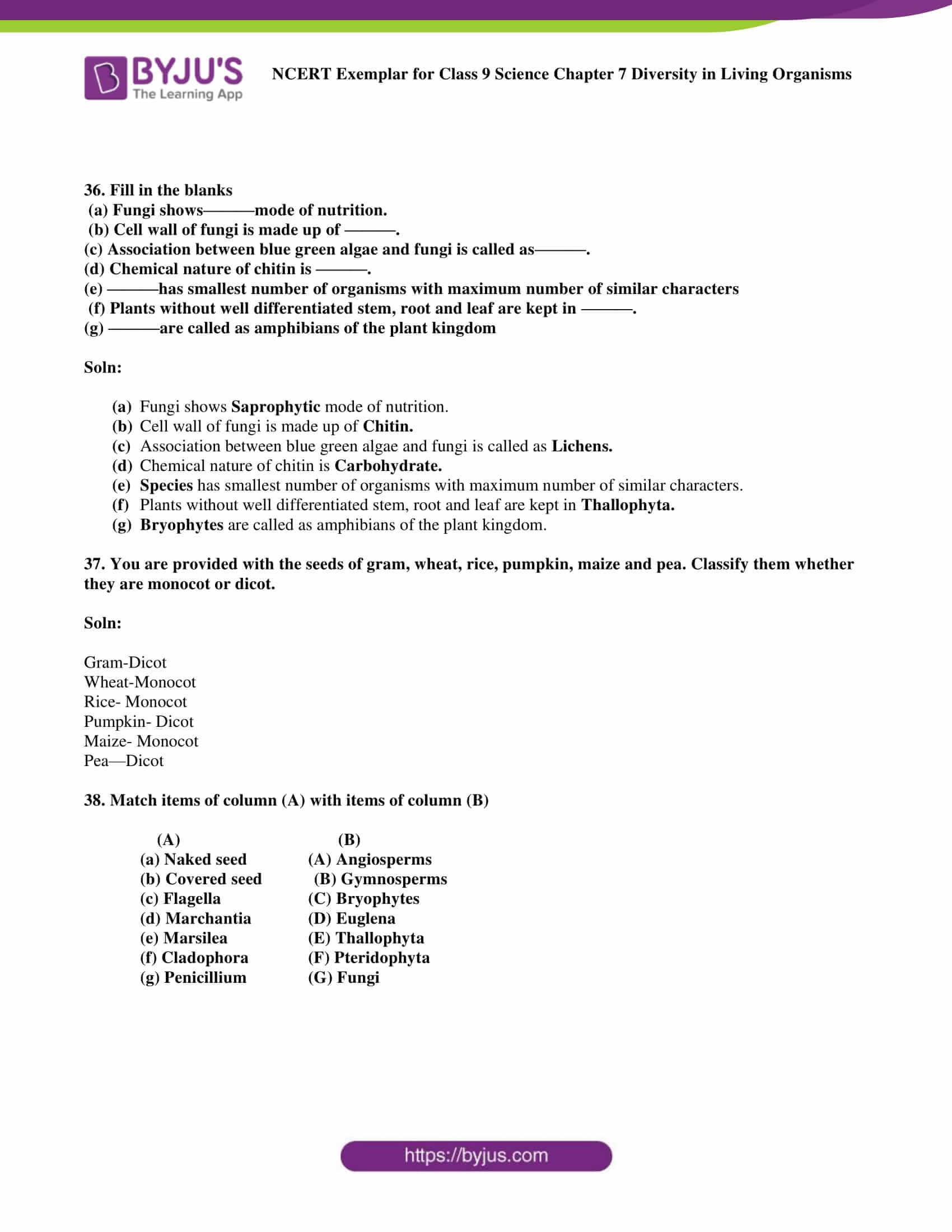 NCERT Exemplar solution class 9 science Chapter 7 part 13