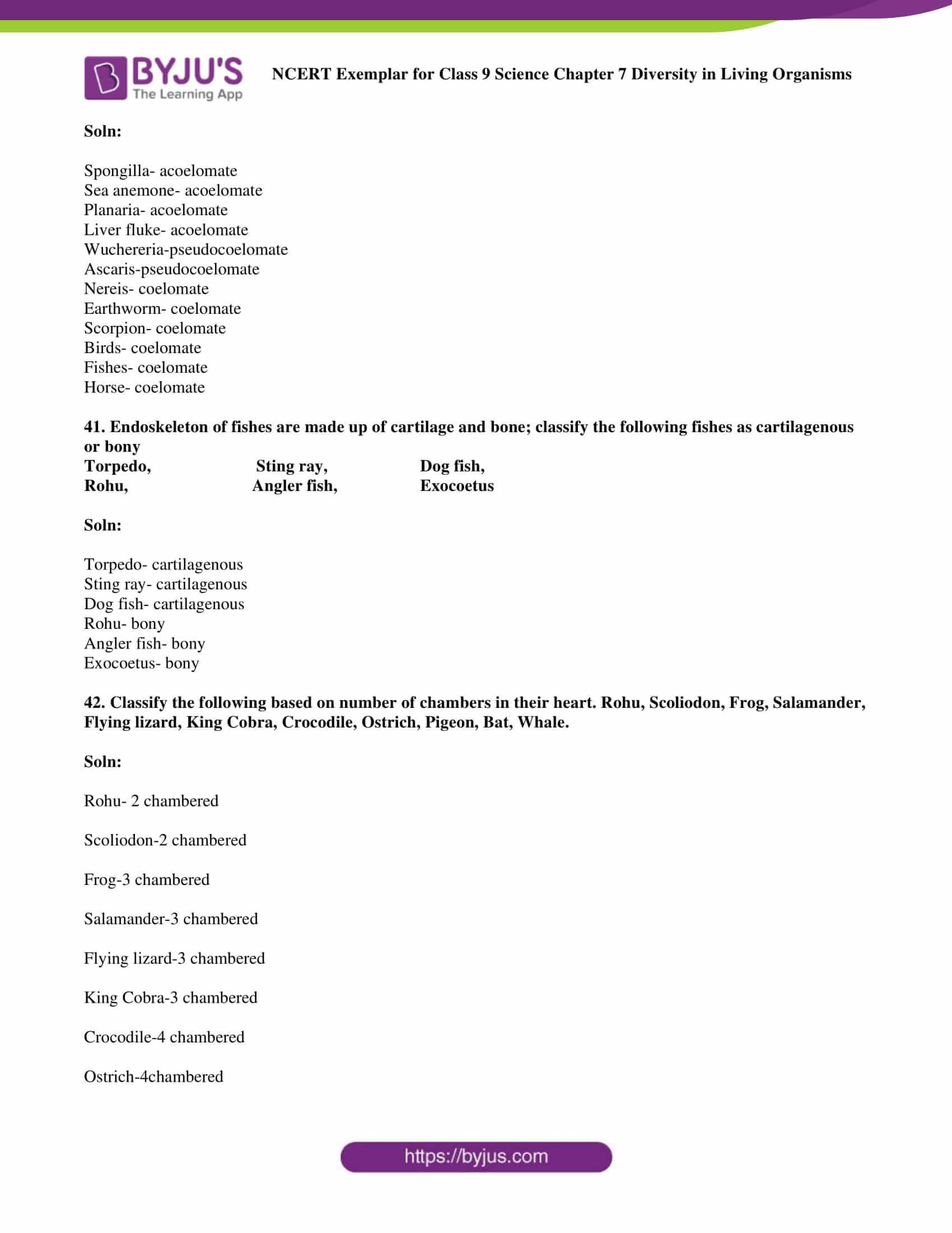 NCERT Exemplar solution class 9 science Chapter 7 part 15