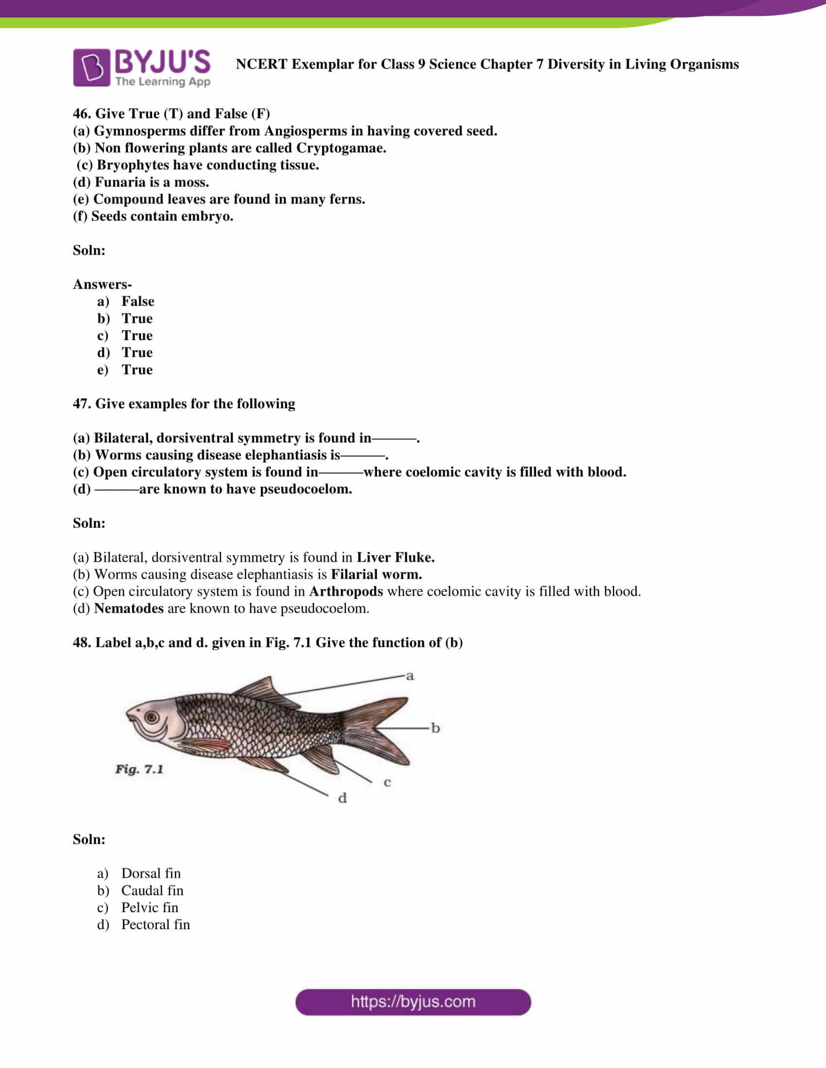 NCERT Exemplar solution class 9 science Chapter 7 part 17