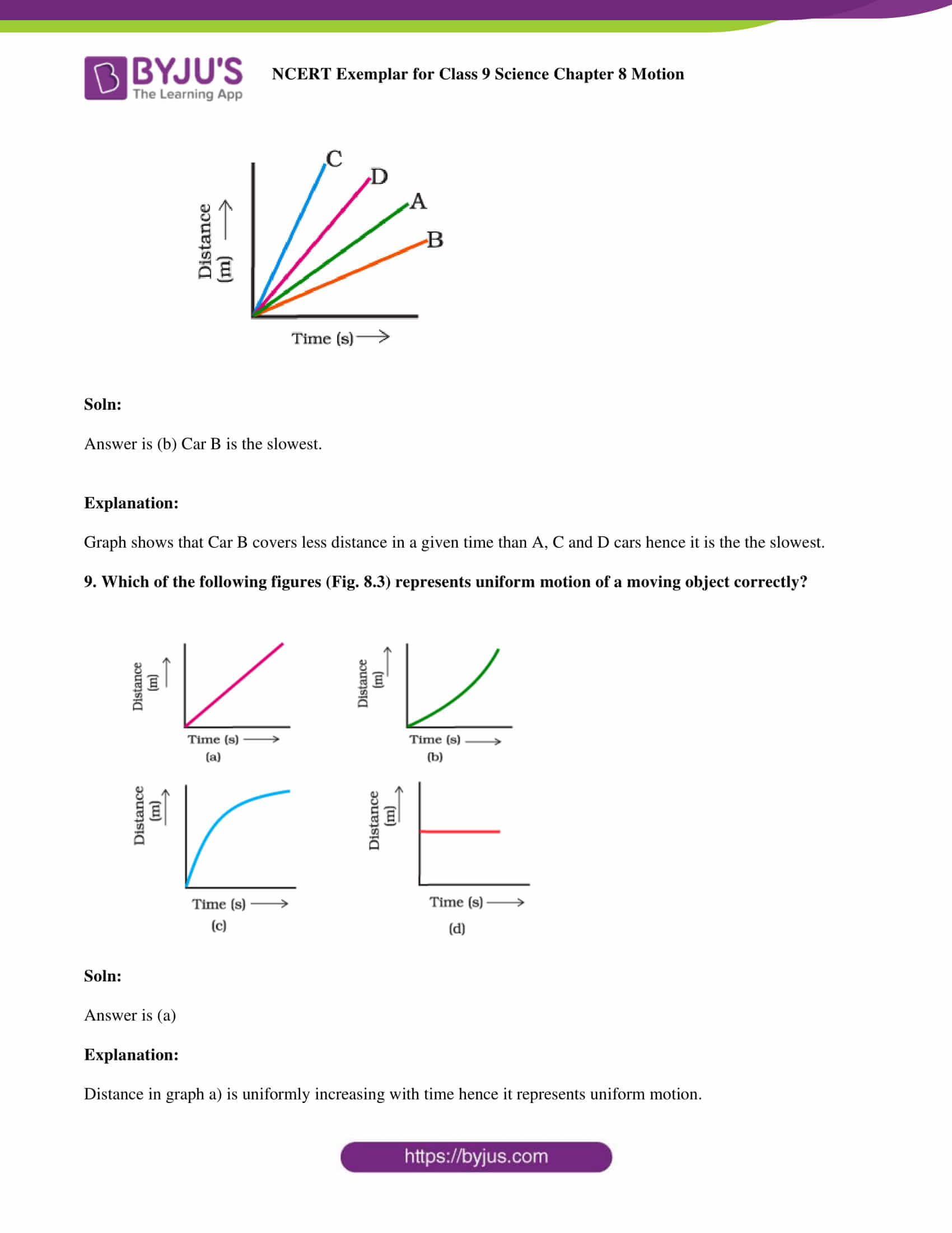 NCERT Exemplar solution class 9 scienceChapter 8 part 04