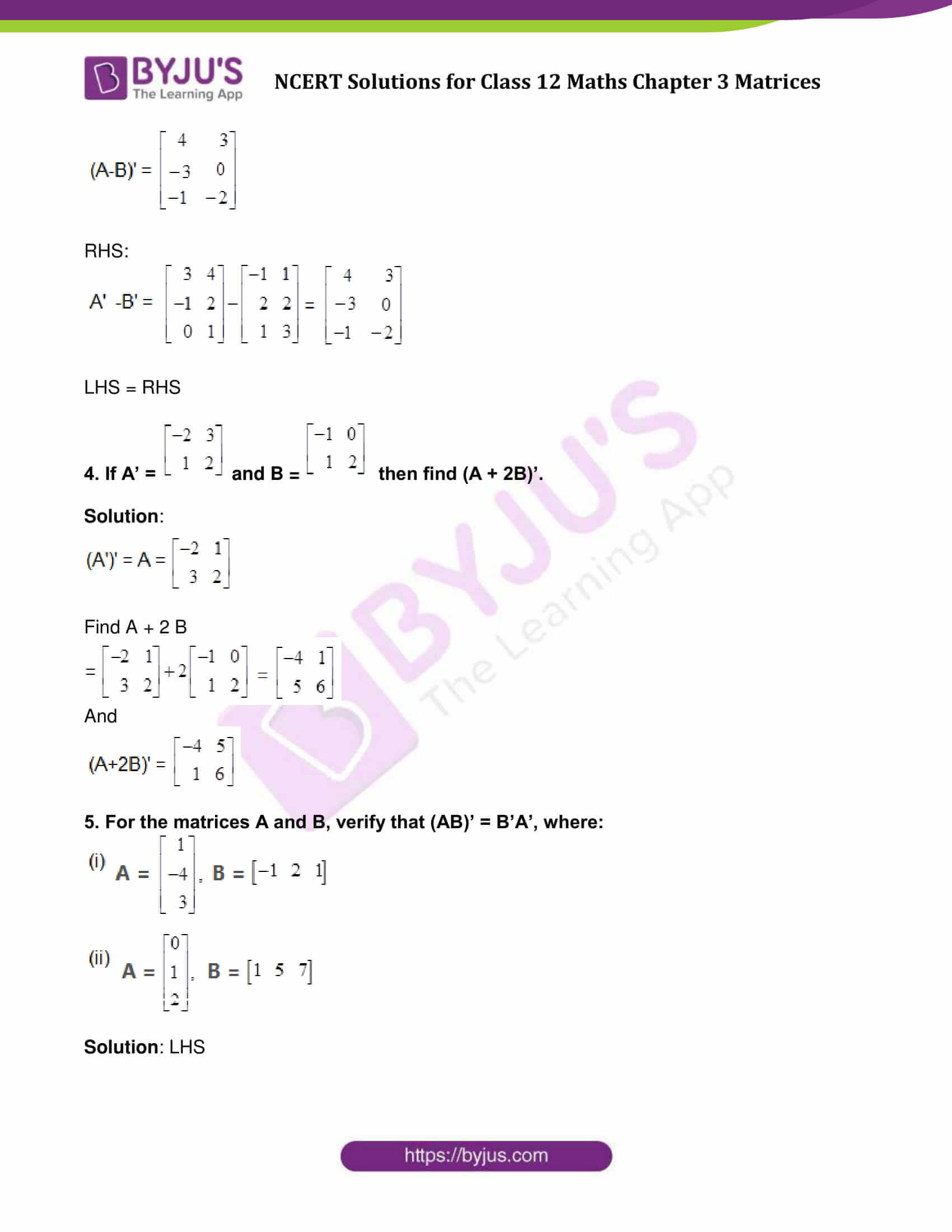 NCERT Solutions for Class 12 Maths Exercise 3.3 Chapter 3 ...