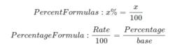 Percent formulas
