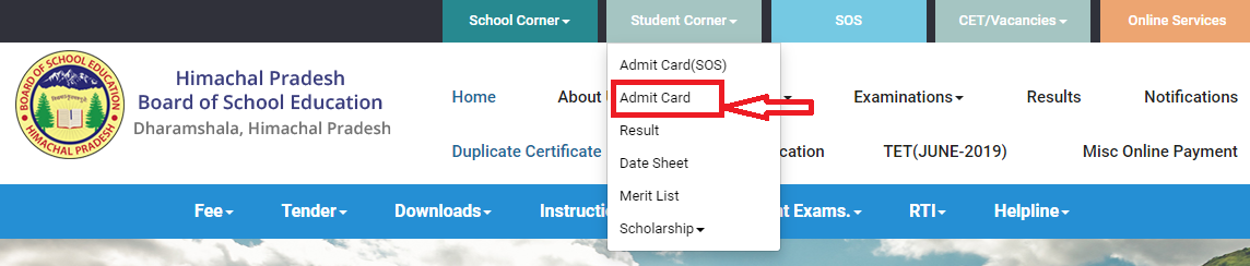 HP Board Compartment Exam Admit Card-1