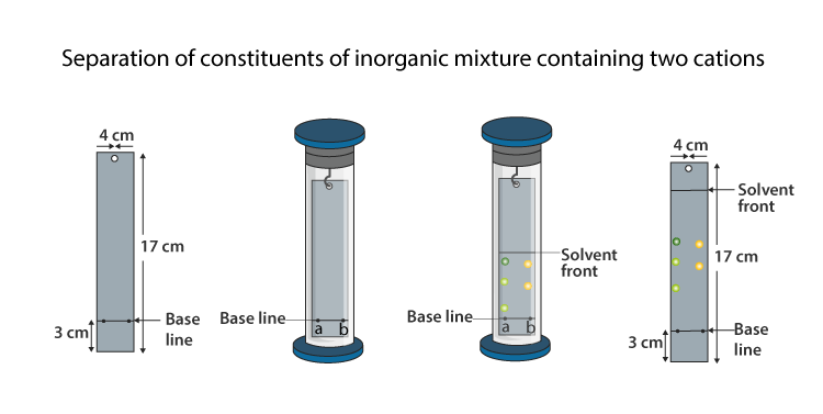 Separation of Constituents of Inorganic Mixture Containing Two Cations