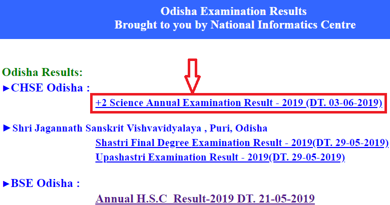 Steps to Check Odisha Board Class 12 Result 2019