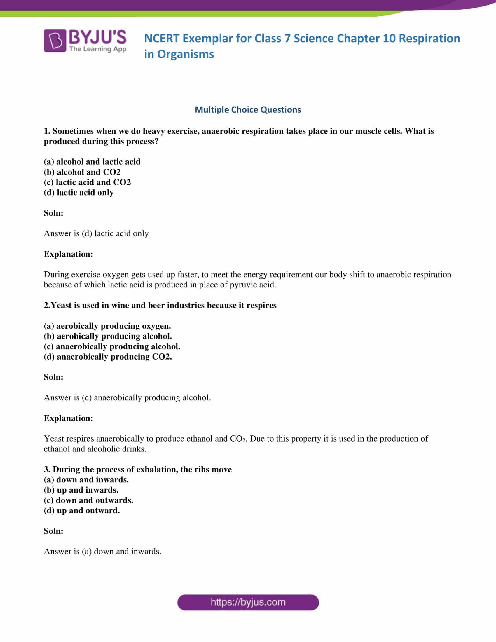 NCERT Exemplar solution class 7 science Chapter 10 1