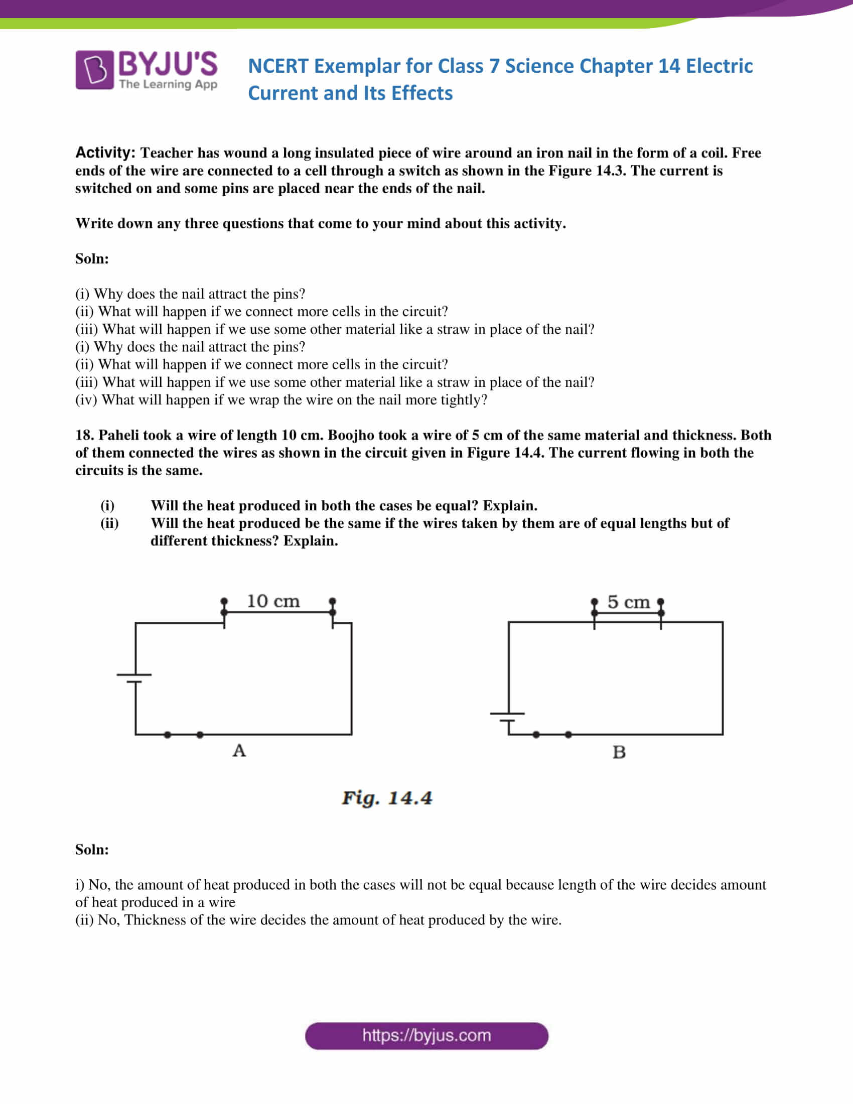 NCERT Exemplar solution class 7 science Chapter 14 6