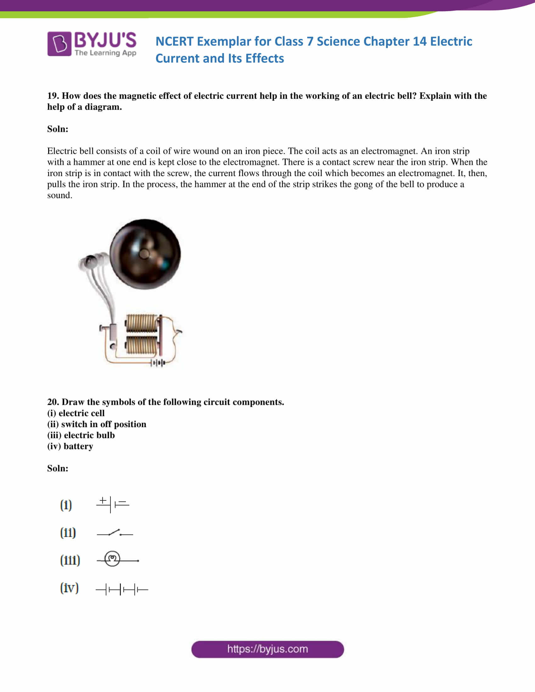 NCERT Exemplar solution class 7 science Chapter 14 7