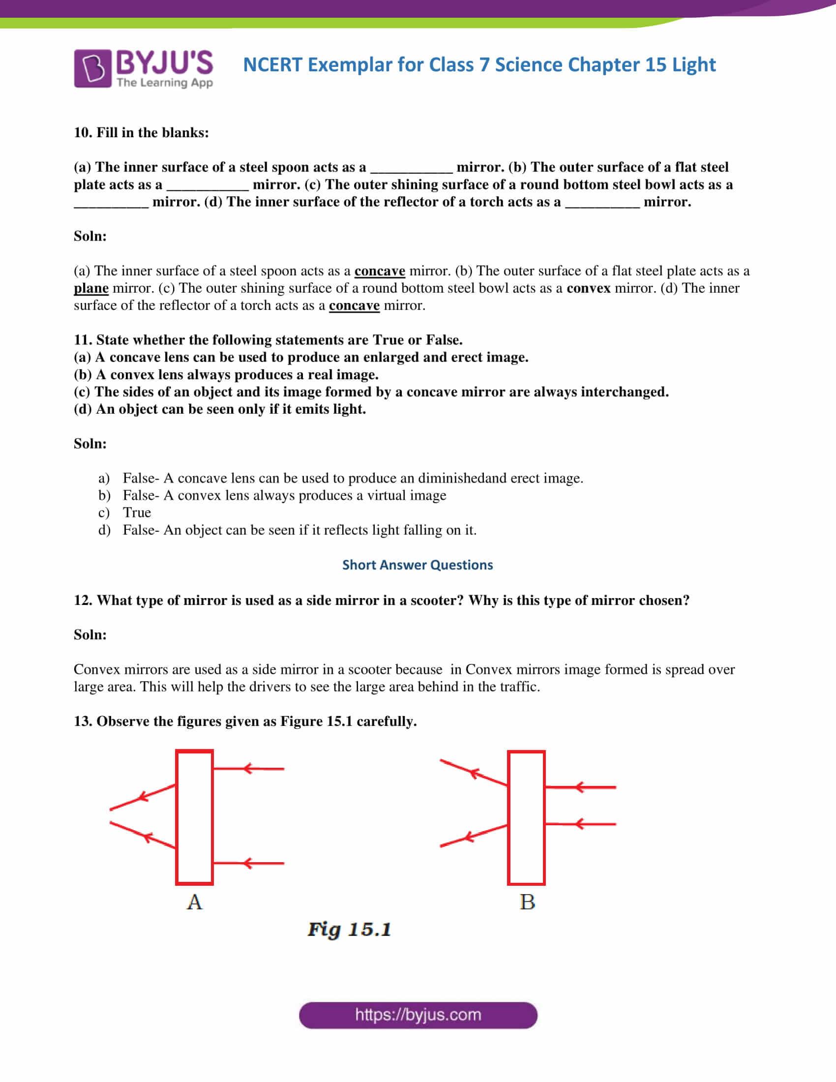 NCERT Exemplar solution class 7 science Chapter 15 4