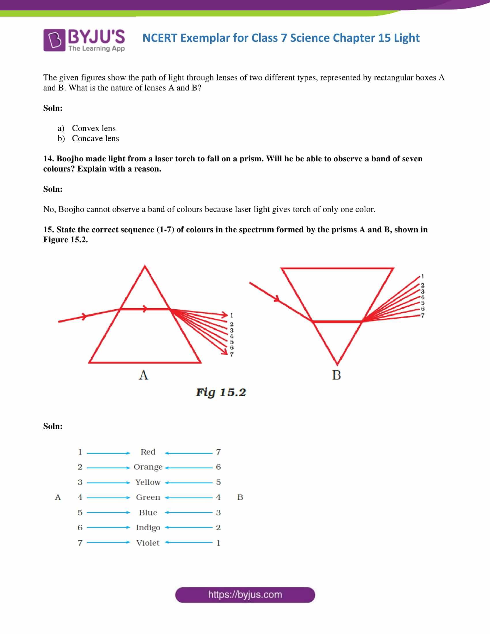 NCERT Exemplar solution class 7 science Chapter 15 5
