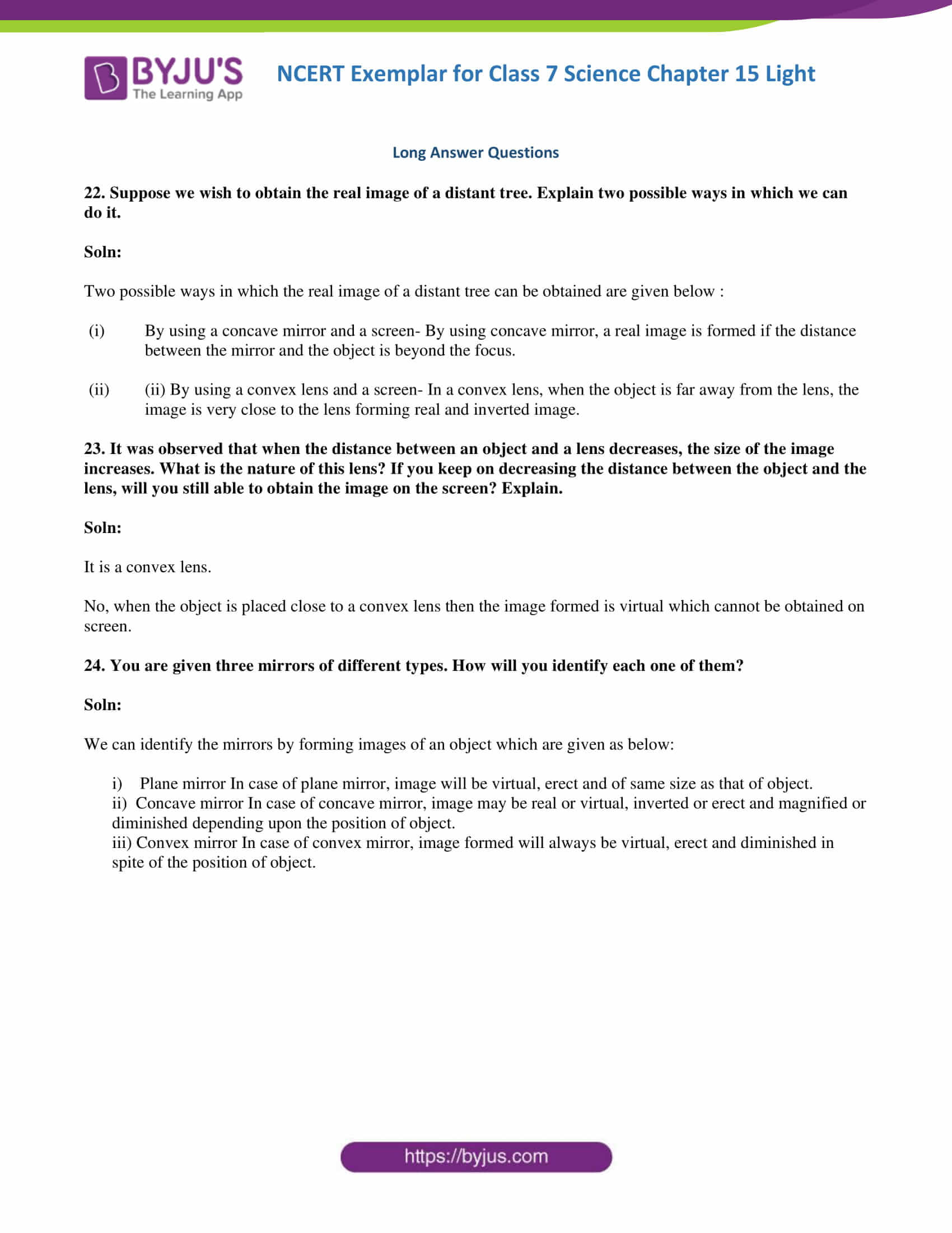 NCERT Exemplar solution class 7 science Chapter 15 7