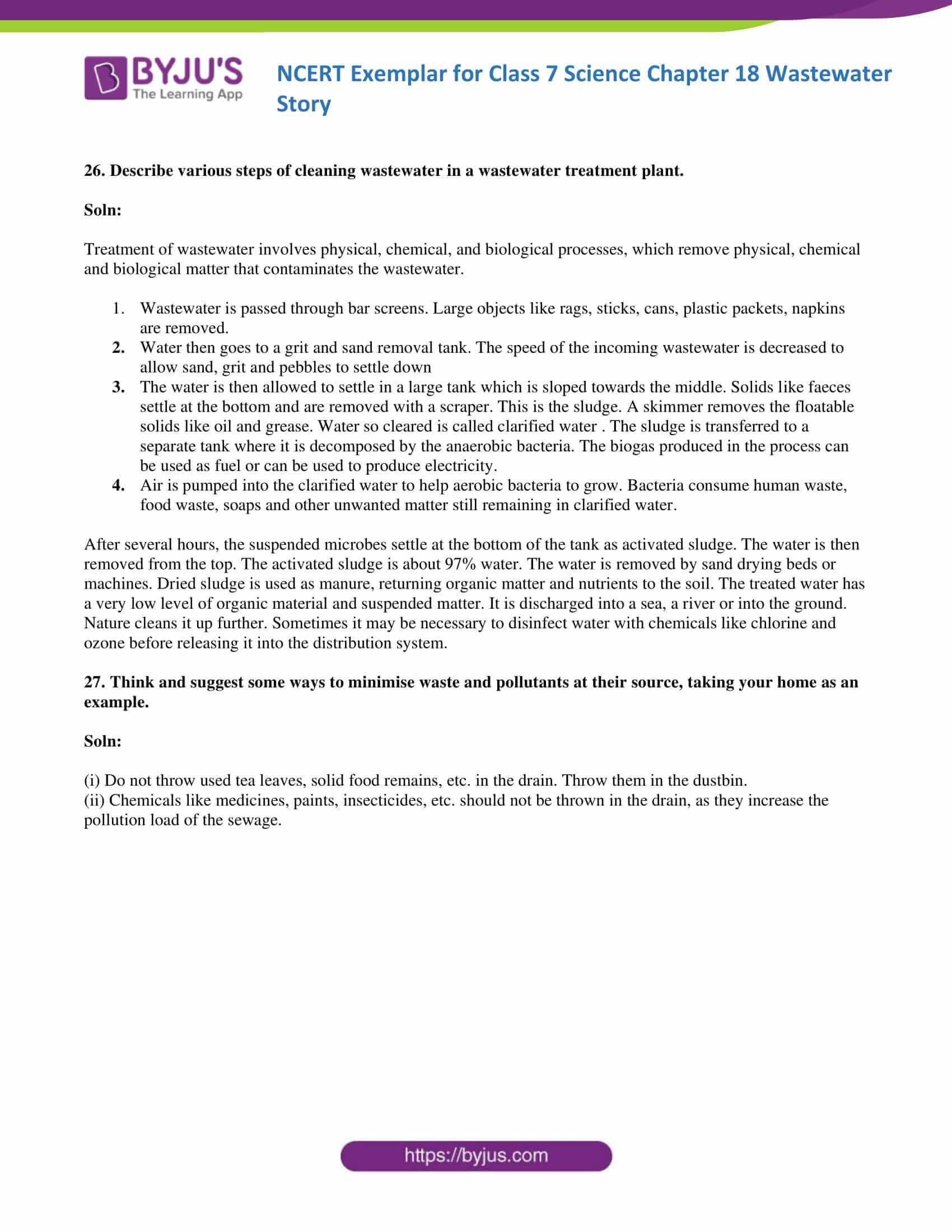 NCERT Exemplar solution class 7 science Chapter 18 8