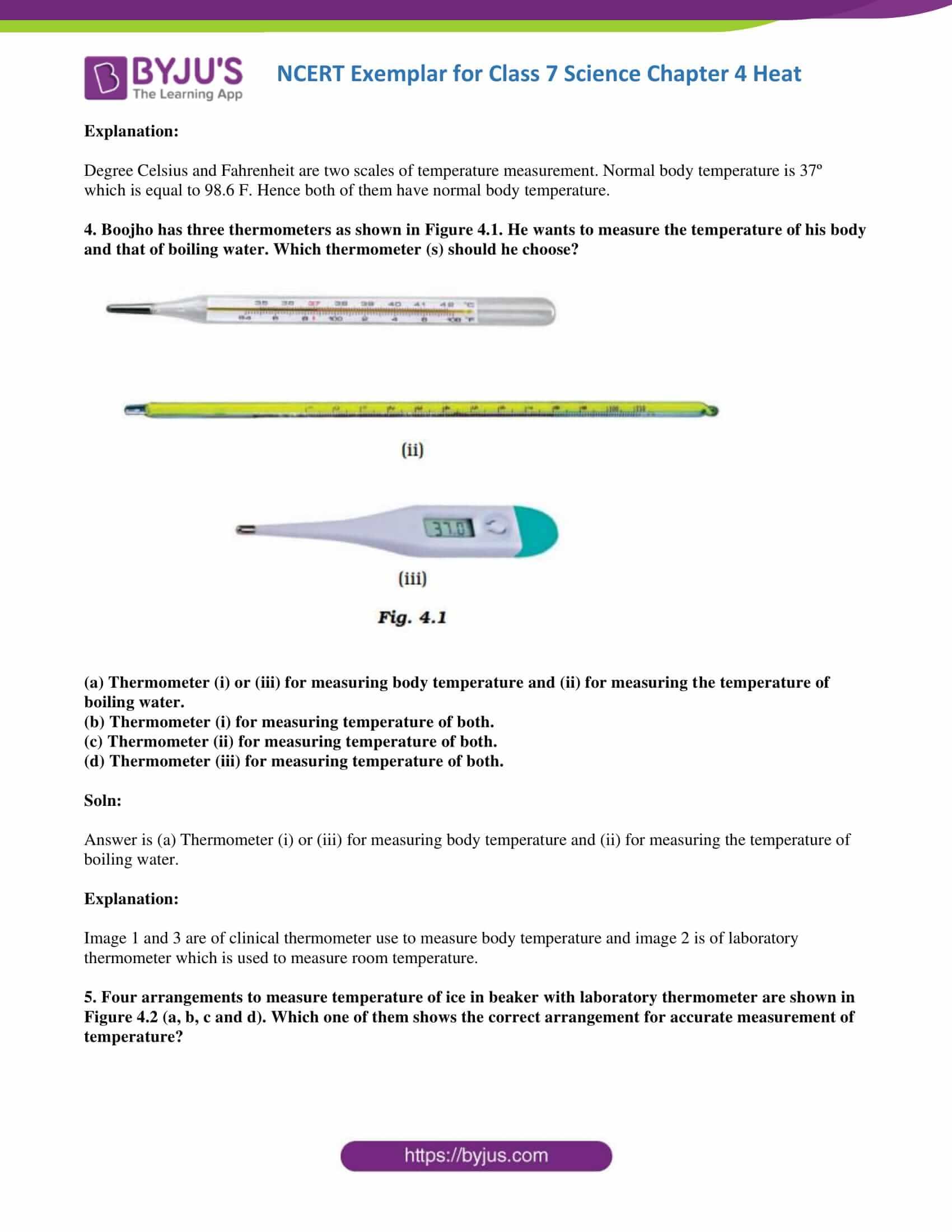 NCERT Exemplar solution class 7 science Chapter 4 2