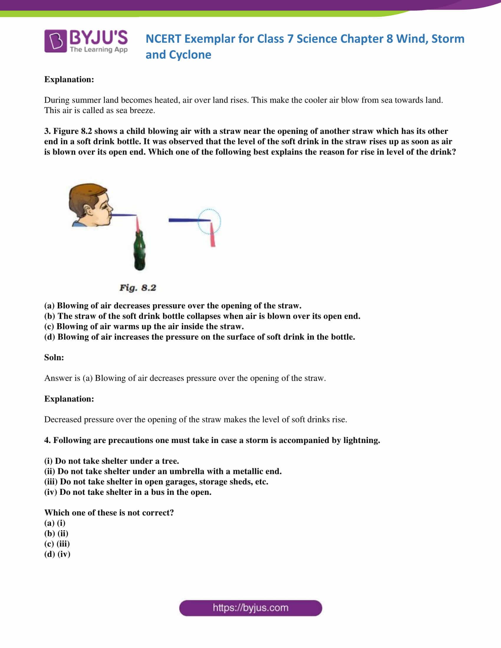 NCERT Exemplar solution class 7 science Chapter 8 2