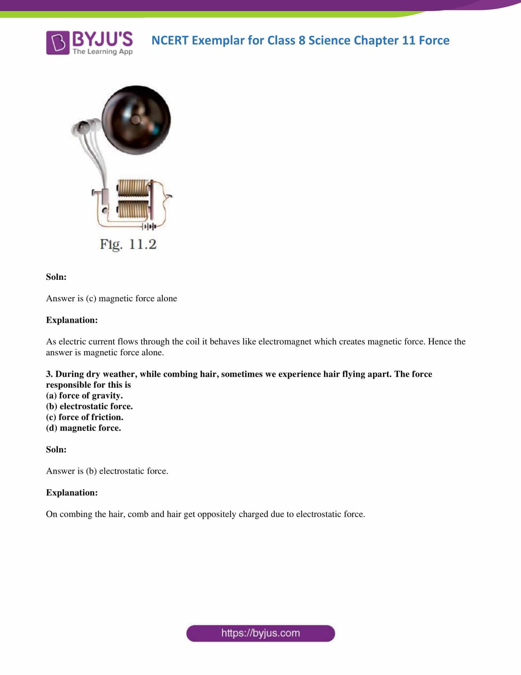 NCERT Exemplar solution class 8 Science Chapter 11 part 02