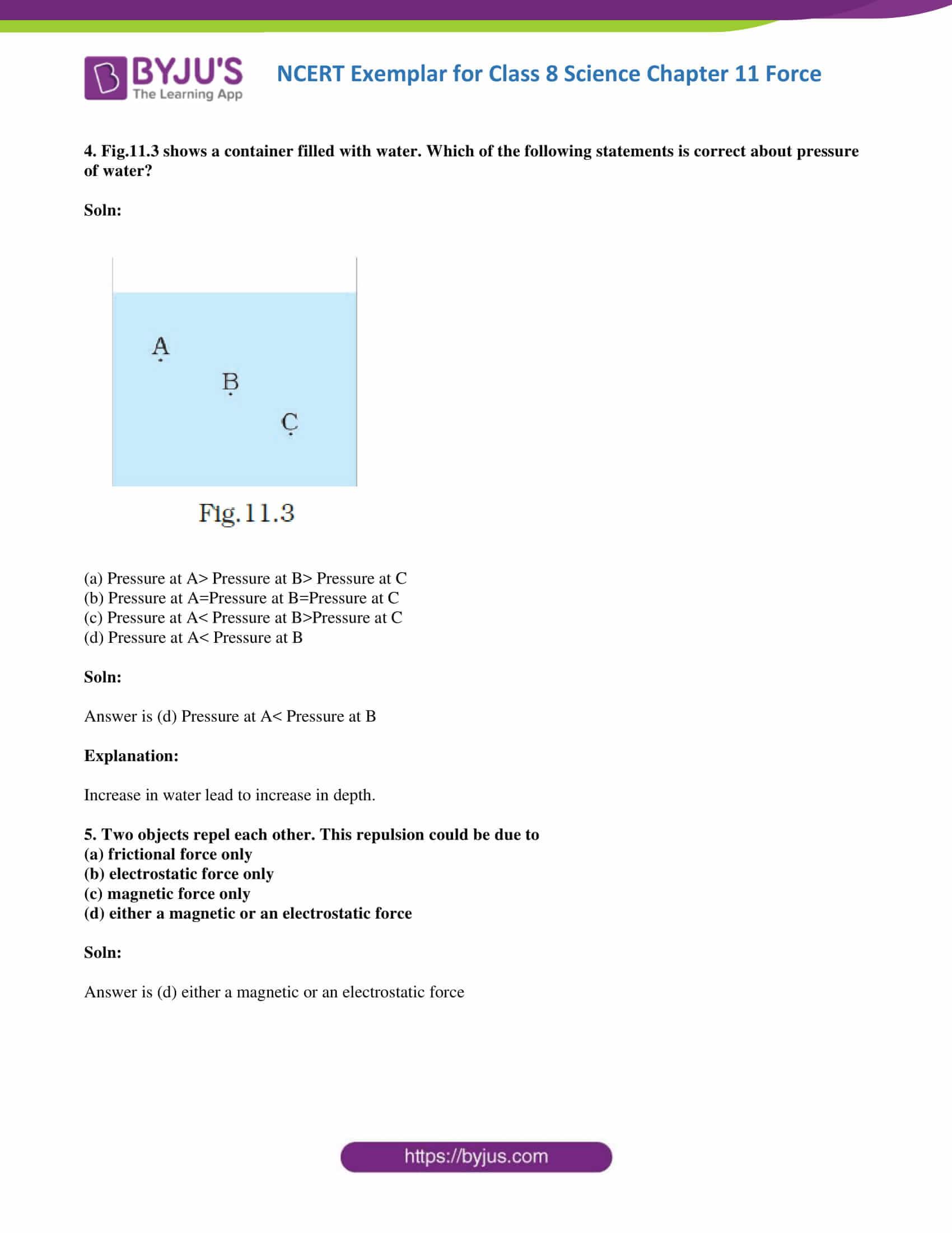 NCERT Exemplar solution class 8 Science Chapter 11 part 03